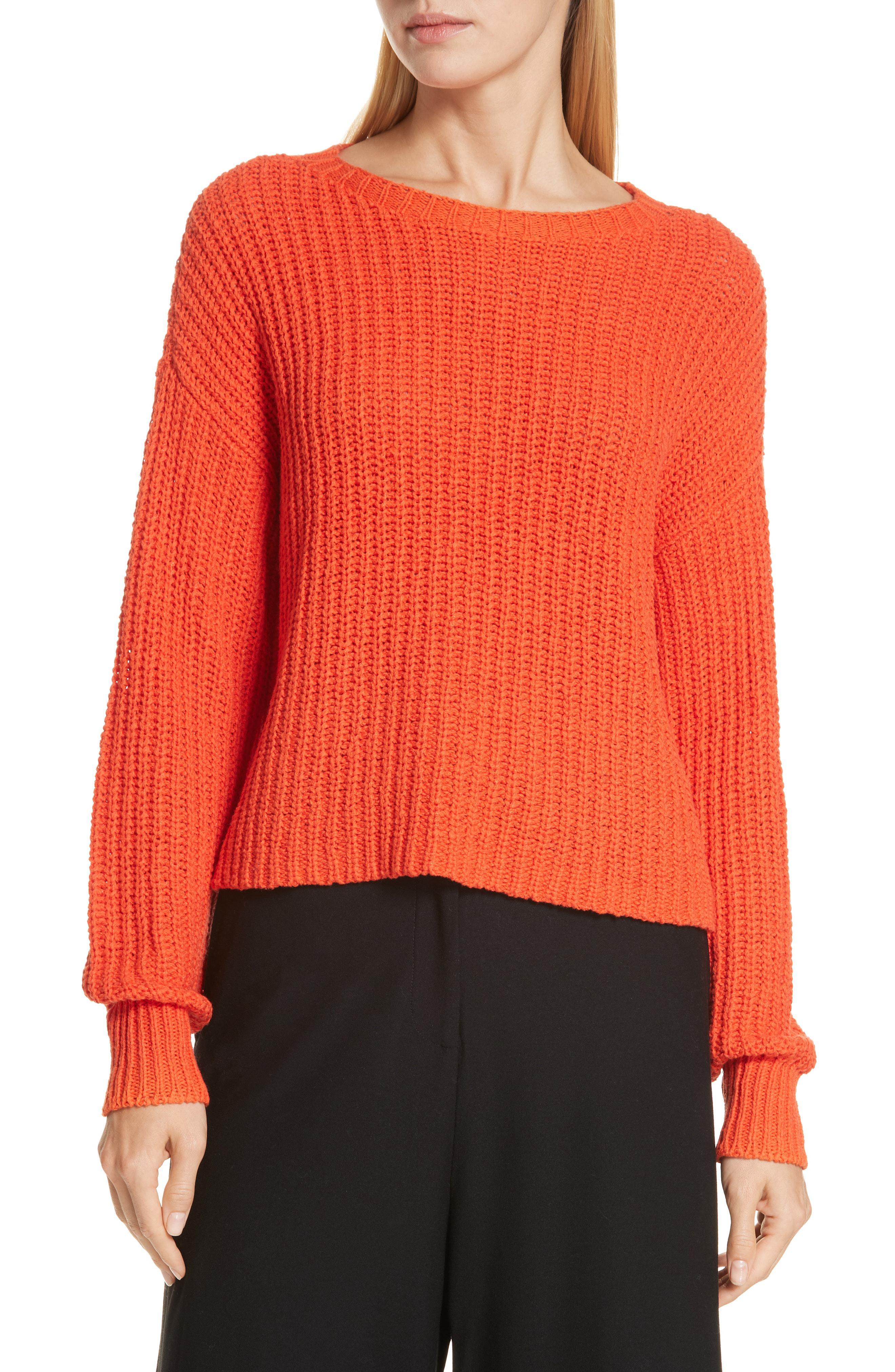 ad7de7002ad Lyst - Eileen Fisher Scoop Neck Sweater in Orange