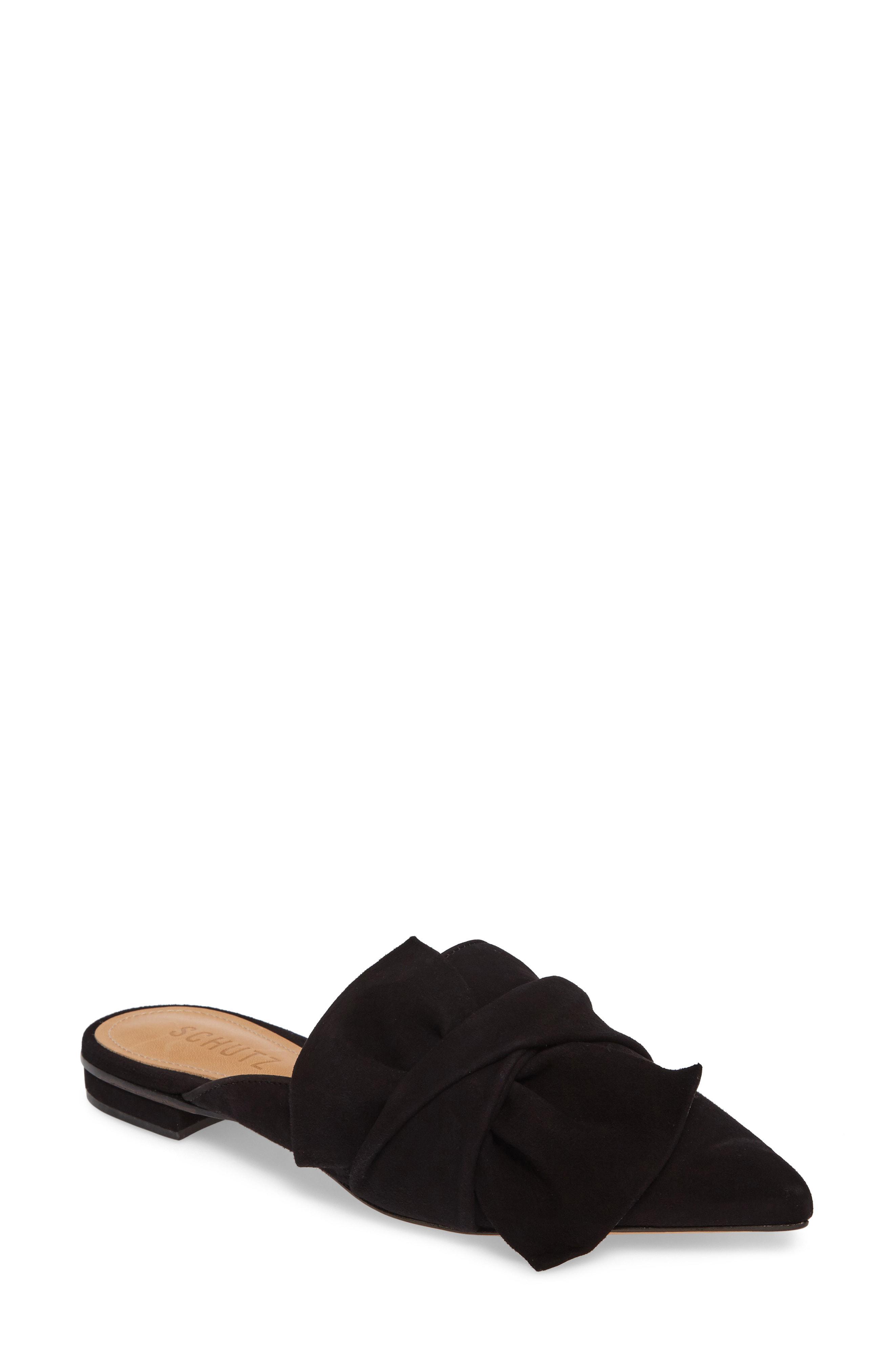 e3e795a3e91 Lyst - Schutz D ana Knotted Loafer Mule in Black