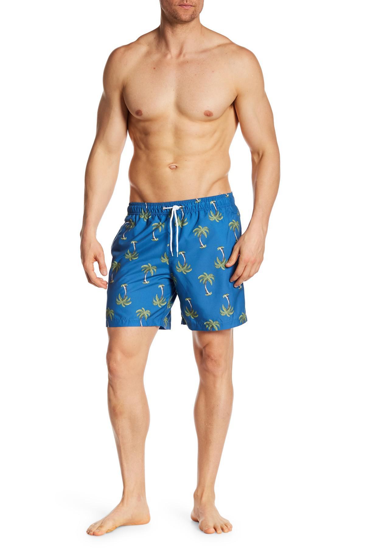 Trunks surf & swim Tropical Palm Swim in Blue for Men