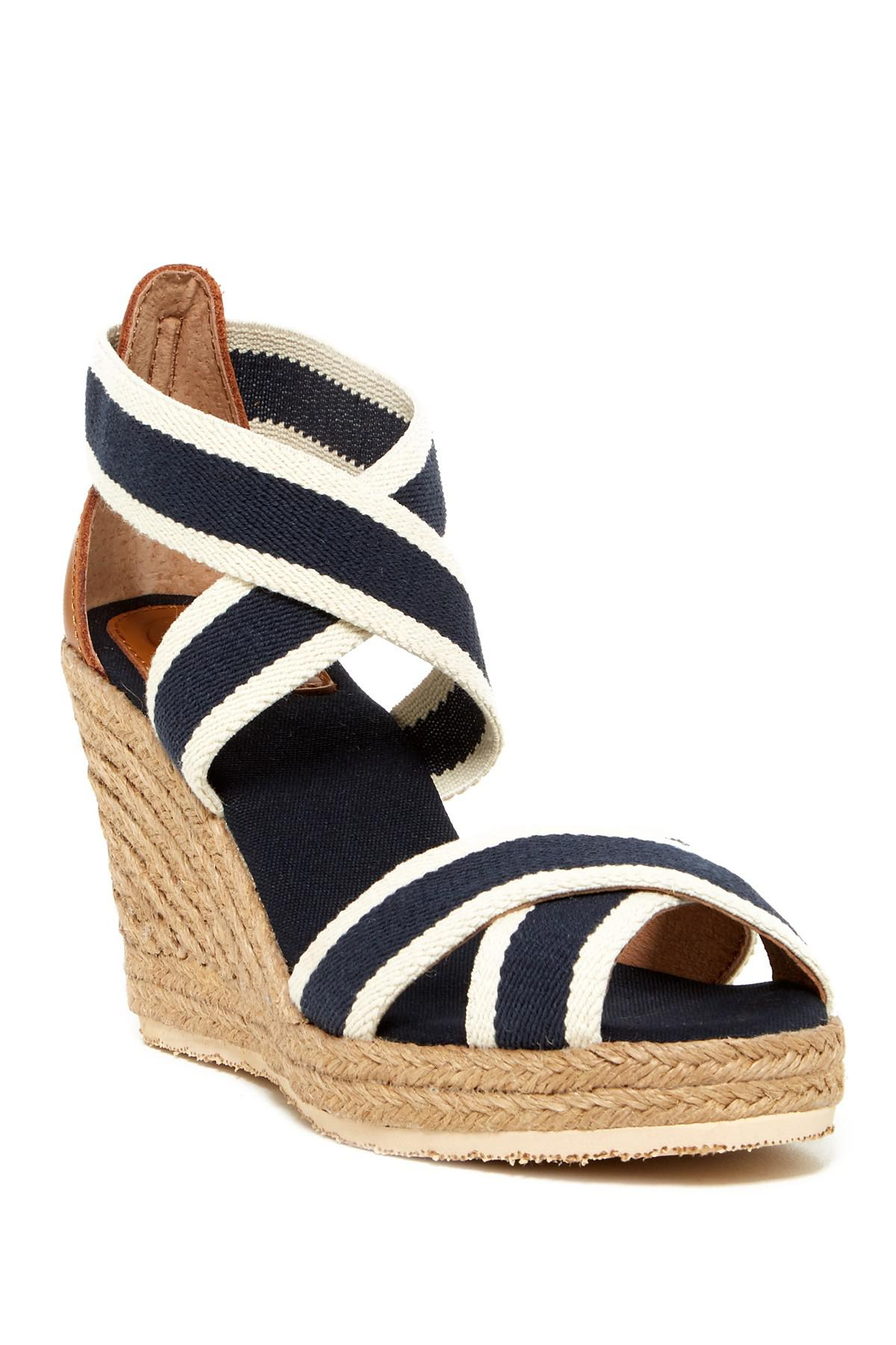 561957f2781 Lyst - Joy & Mario Lola Espadrille Wedge Sandal in Blue