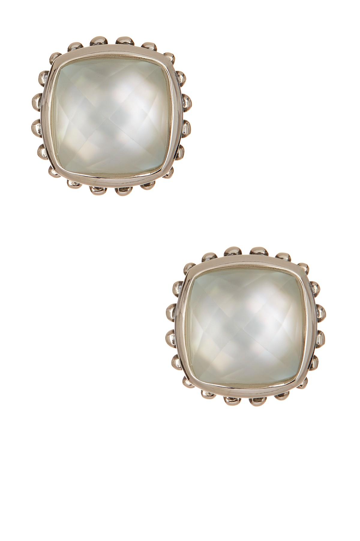 Lagos Sterling Silver Doublet Stud Earrings Lyst