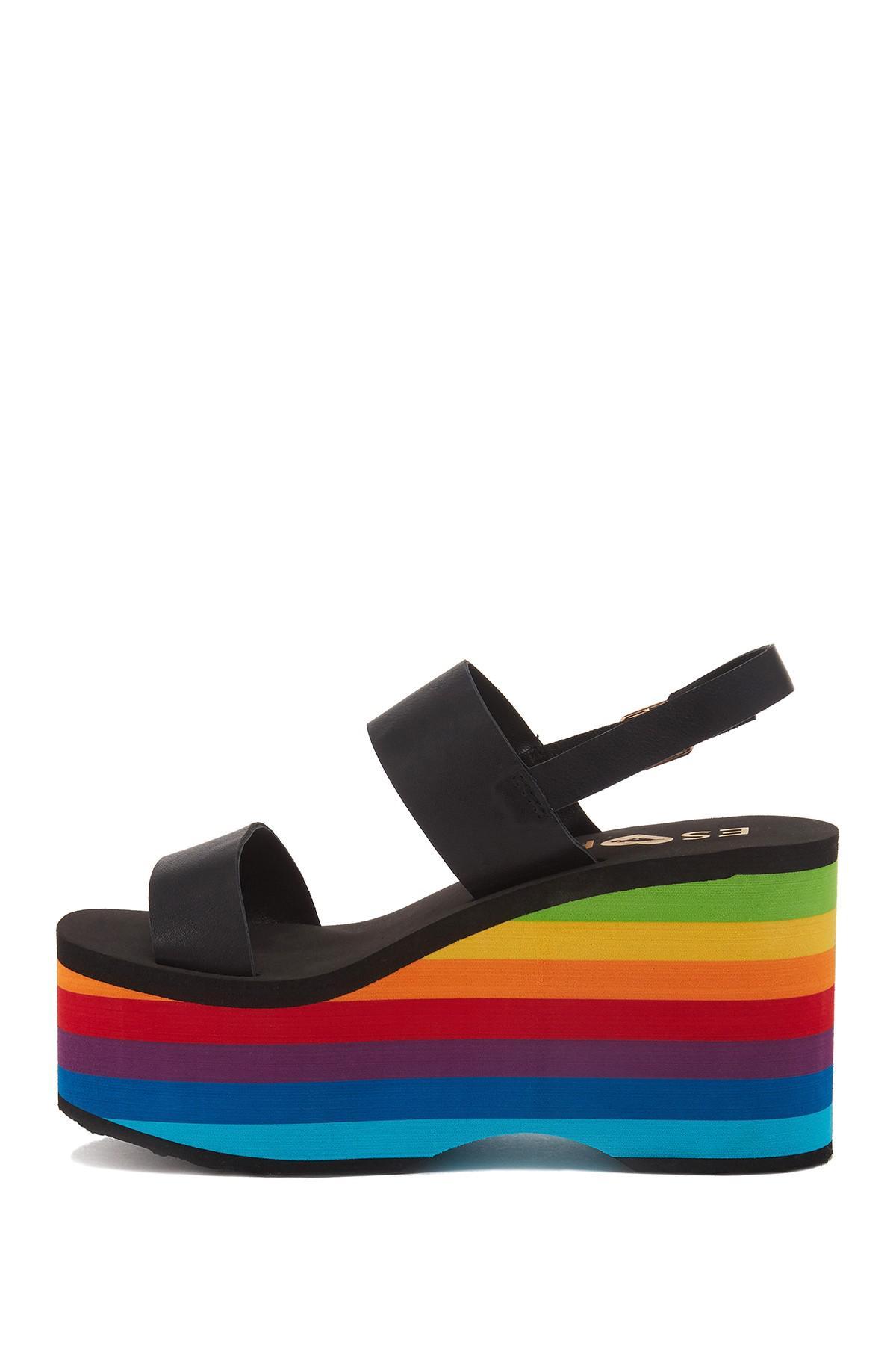 9539fd3360e Lyst - Rocket Dog Copa Rainbow Sandals in Black
