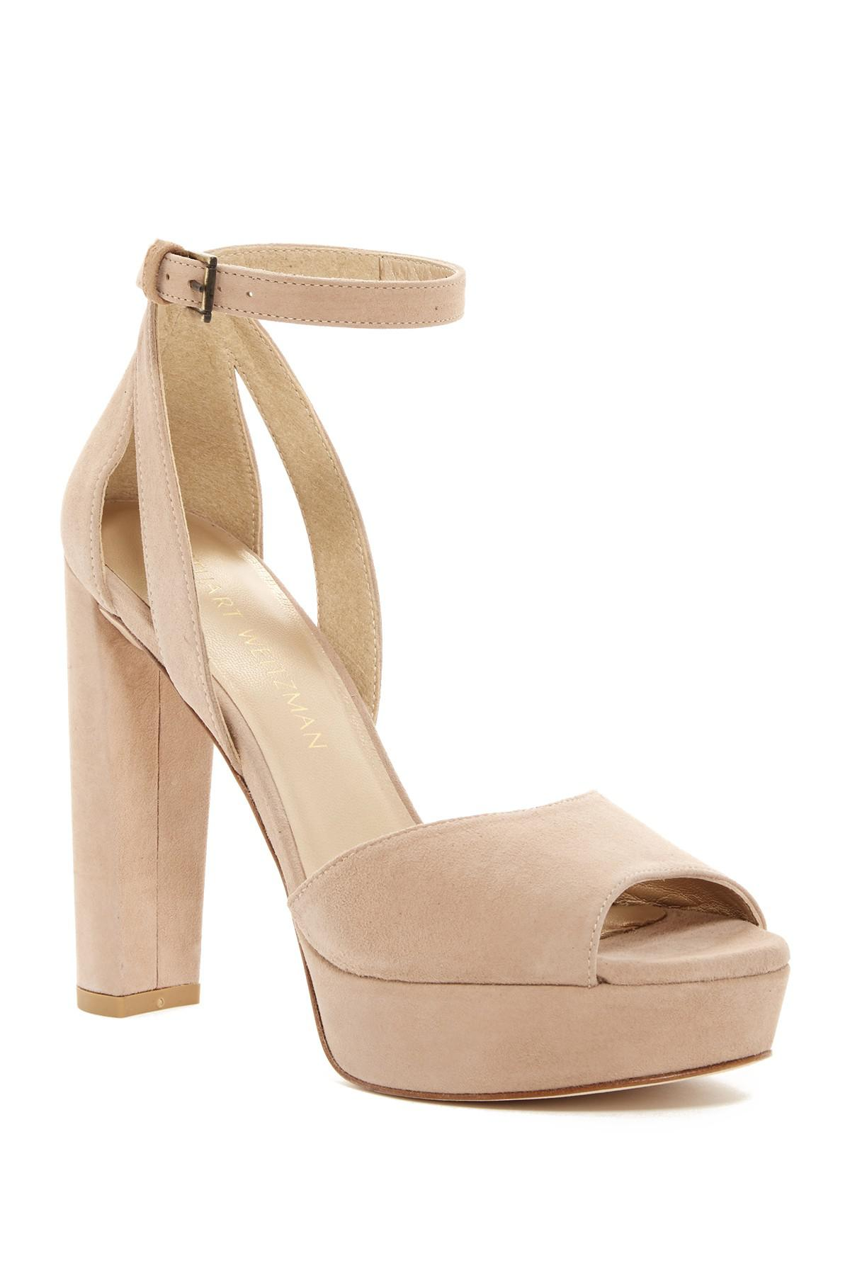 59860ef8fe4 Lyst - Stuart Weitzman  hijinx  Platform Sandal (women) in Natural