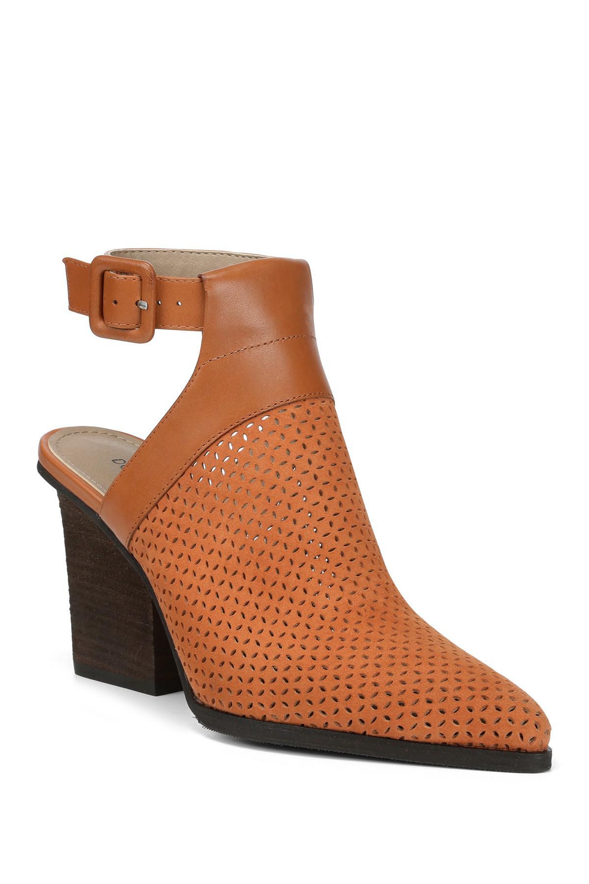 9041703f396 Donald J Pliner - Brown Varen Heel Cutout Perforated Bootie - Lyst. View  fullscreen