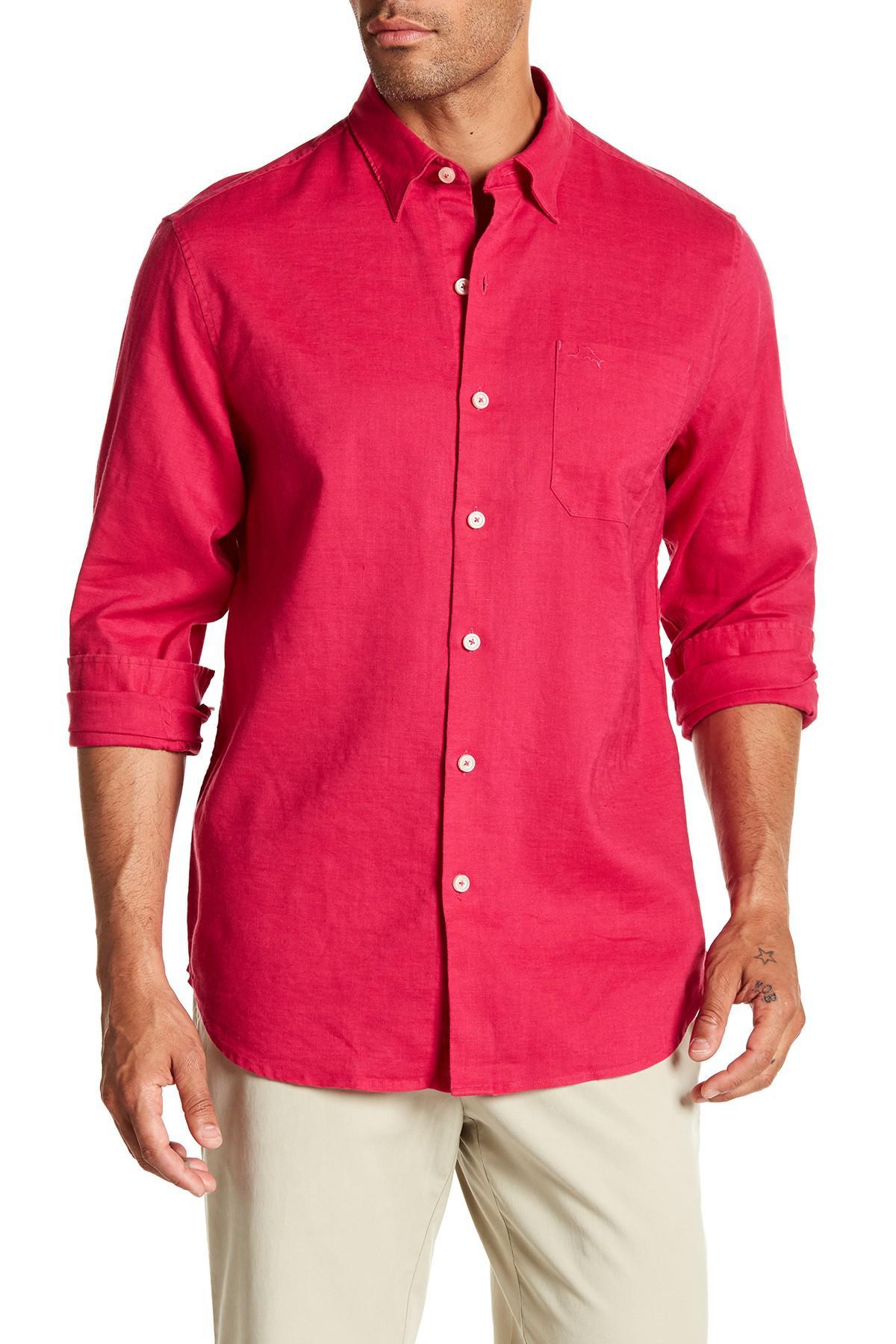 Tommy bahama woven long sleeve regular fit shirt for men for Tommy bahama long sleeve dress shirts