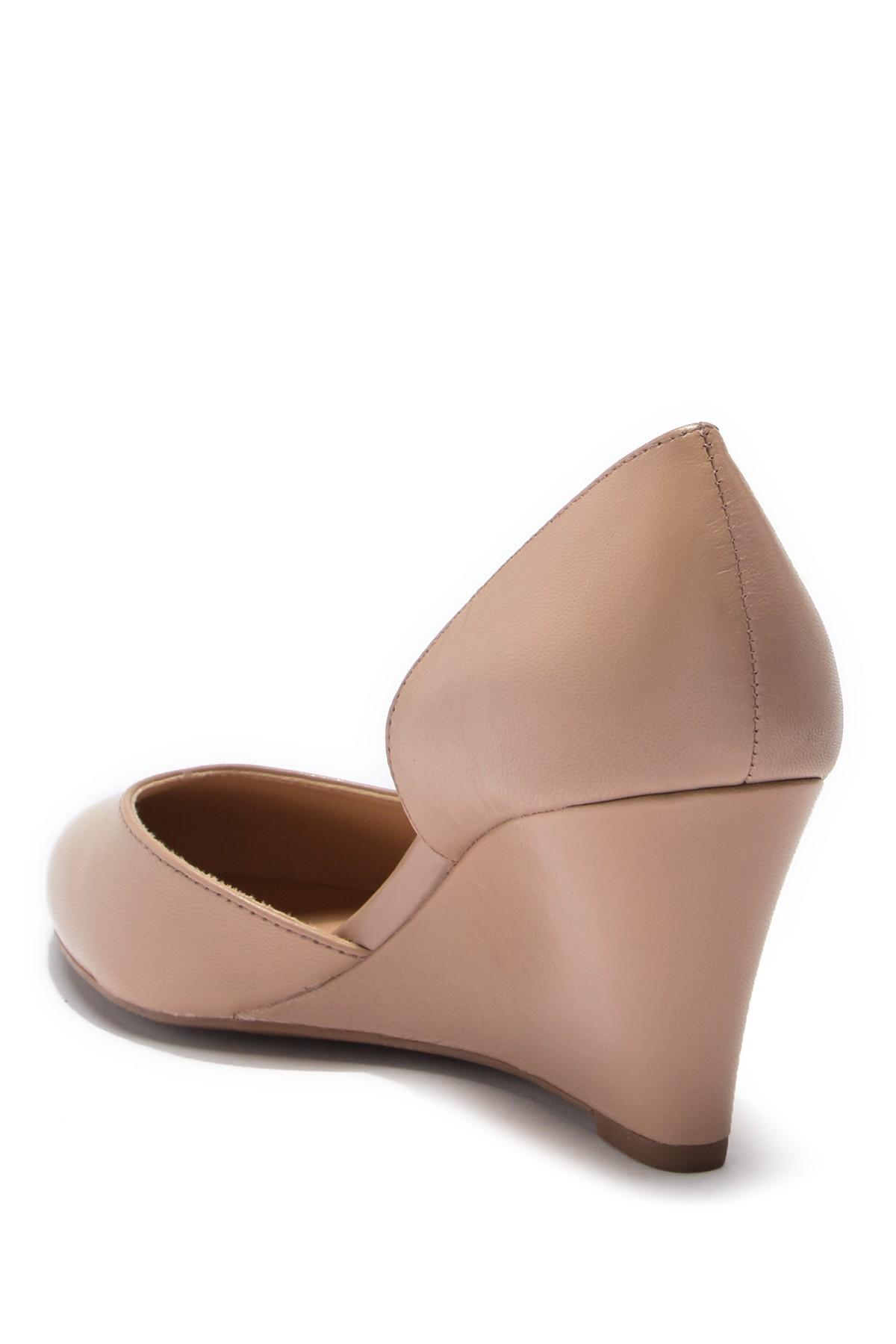 03fb08110f0 Franco Sarto - Multicolor Felice Leather D orsay Wedge Pump - Wide Width  Available -. View fullscreen