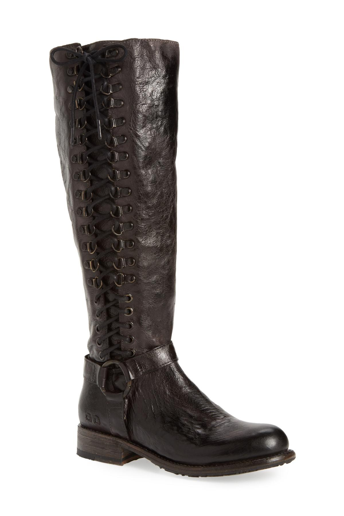 457d44270ced9f Lyst - Bed Stu Burnley Knee-high Corset Boot in Black