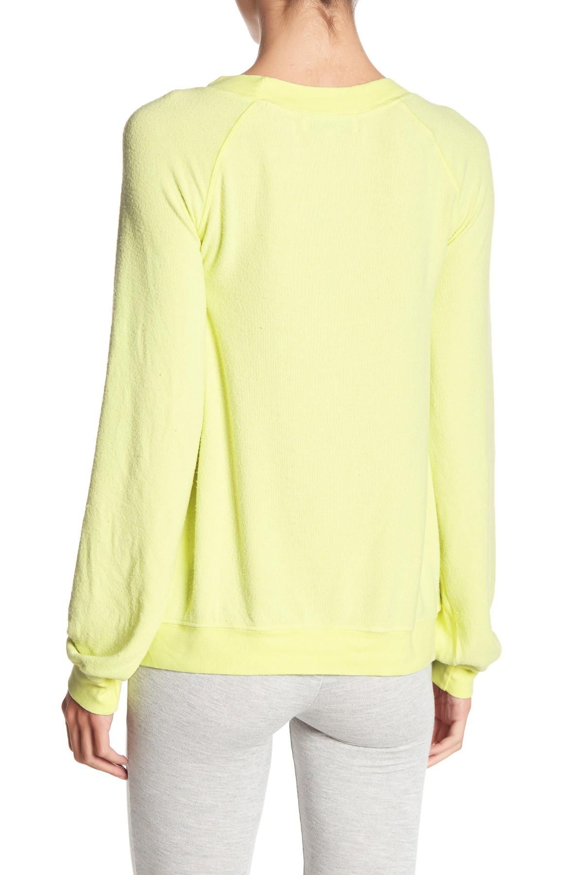 006601a926 Wildfox Sleepy Smile Sommers Sweater in Yellow - Lyst