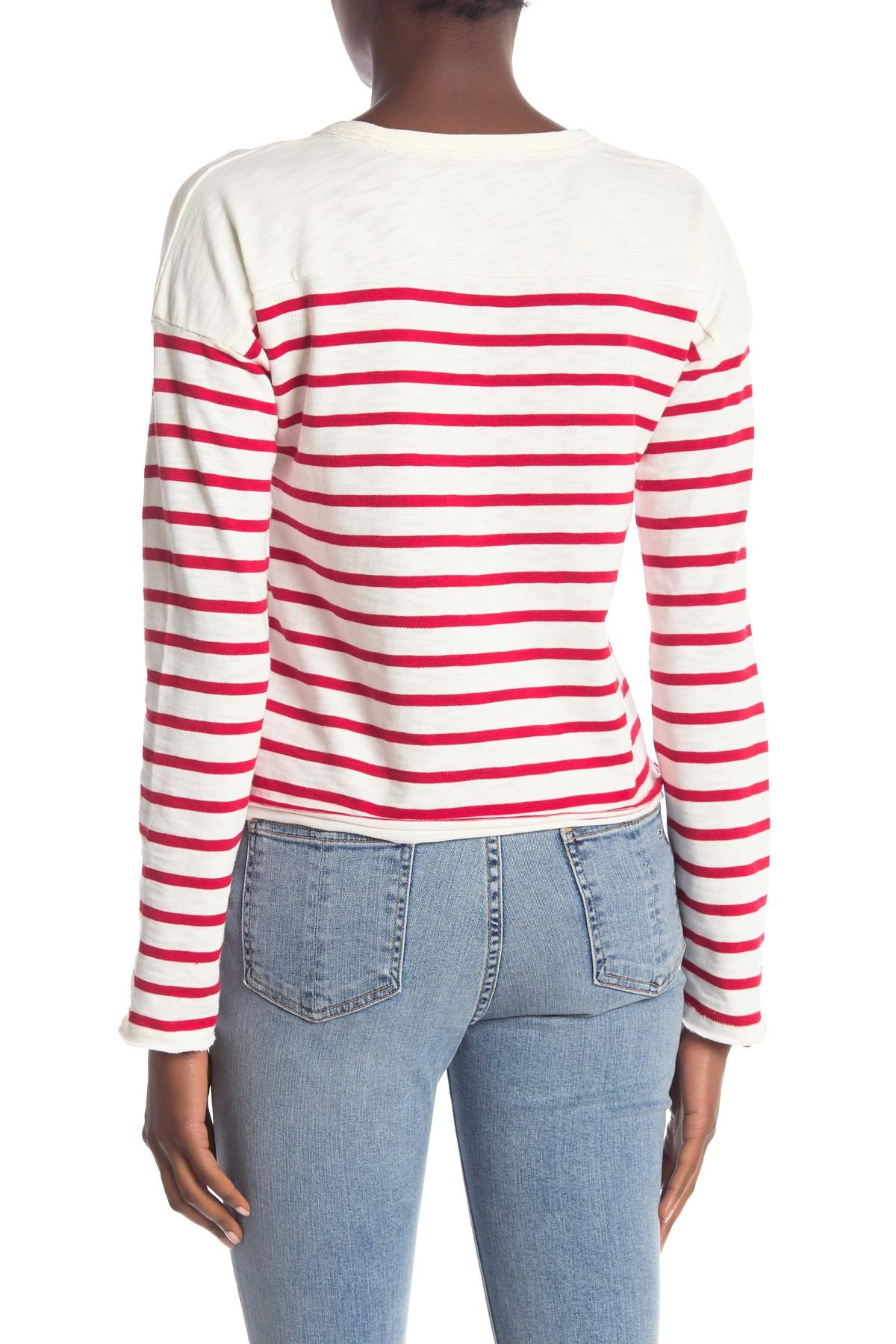 43f966e078 Rag & Bone Halsey Striped Long Sleeve Shirt - Lyst