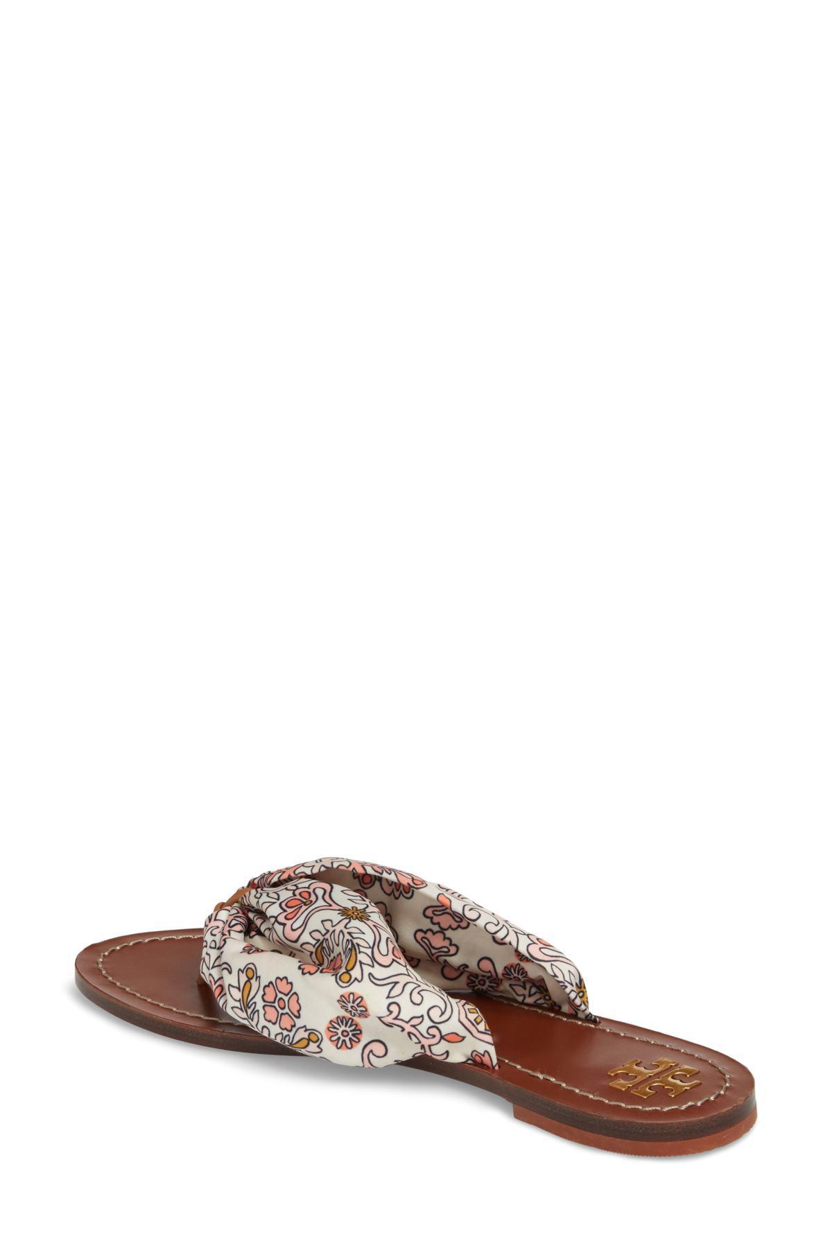 3c5000b8e817 Lyst - Tory Burch Carson Printed Satin Sandals
