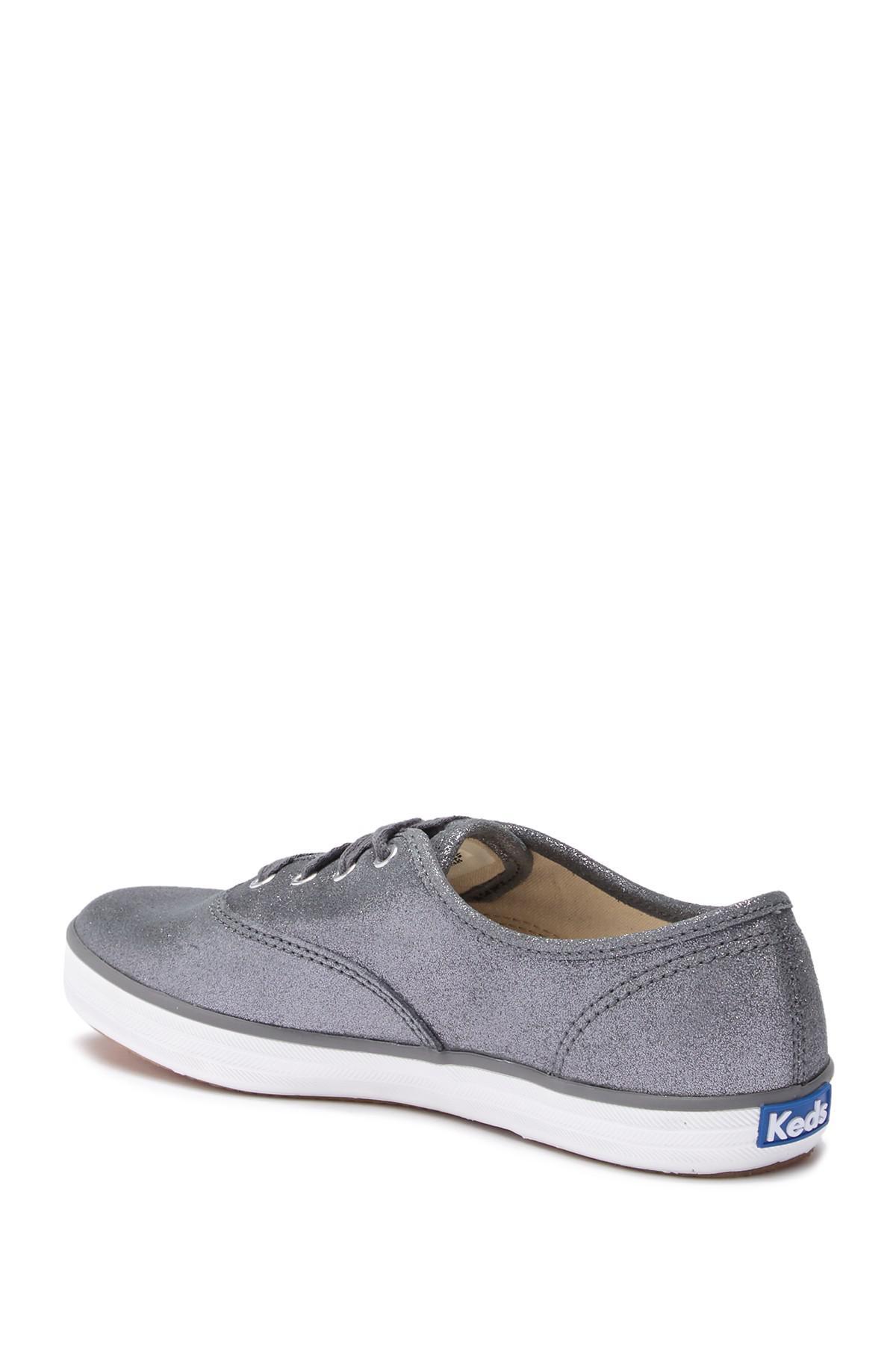 ca47d4436a15f Keds - Gray Champion Glitter Suede Sneaker - Lyst. View fullscreen
