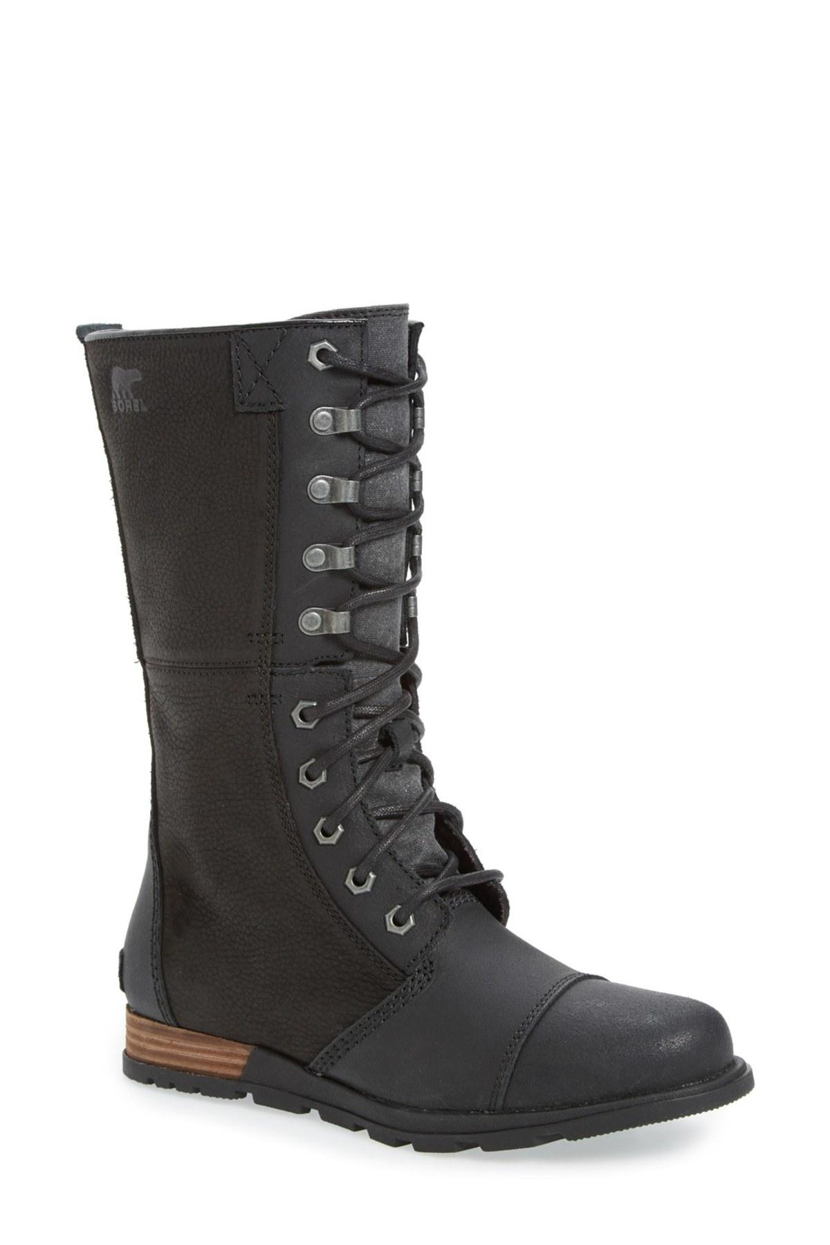 09545a521d2 Lyst - Sorel  major Maverick  Mid Calf Zip Boot in Black