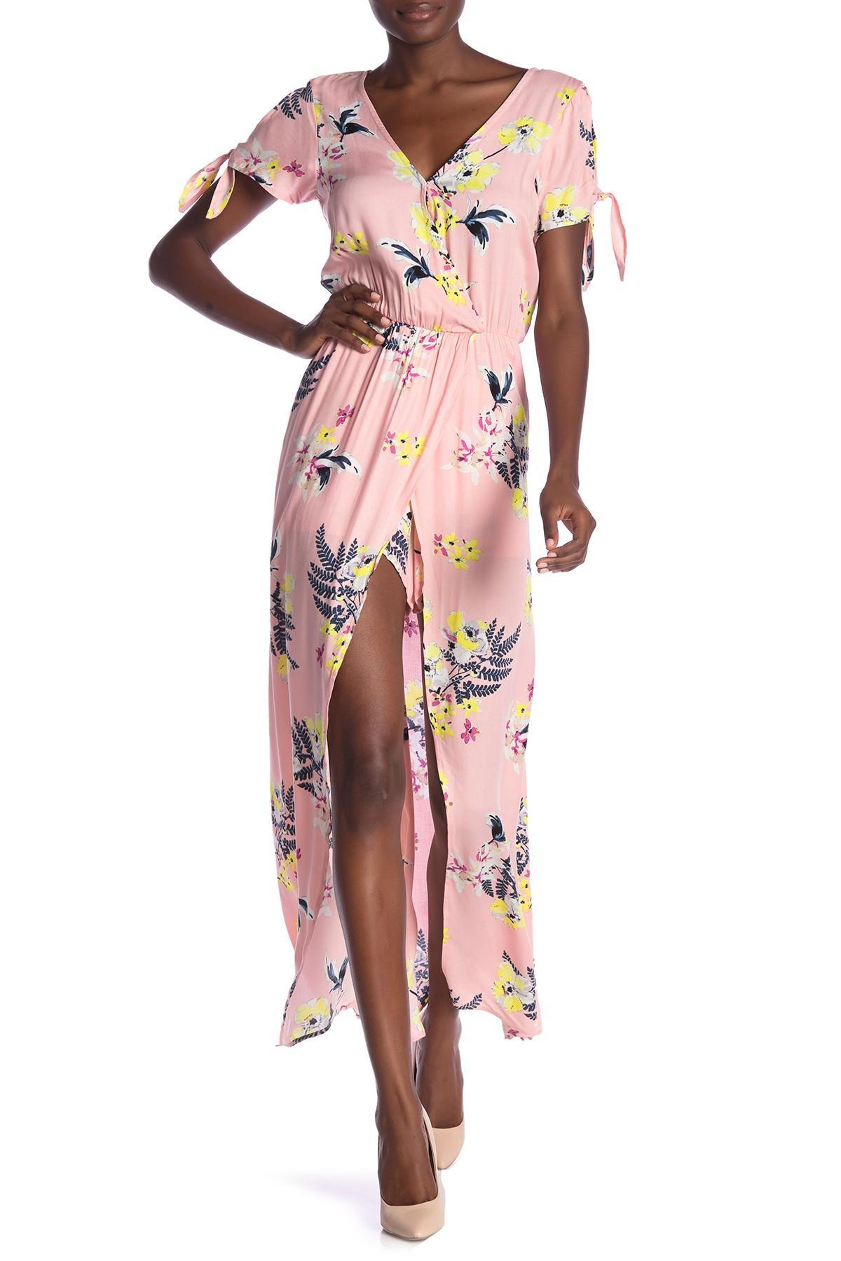 75938388722 Lyst - BB Dakota Anaya Floral Print Overlay Romper in Pink