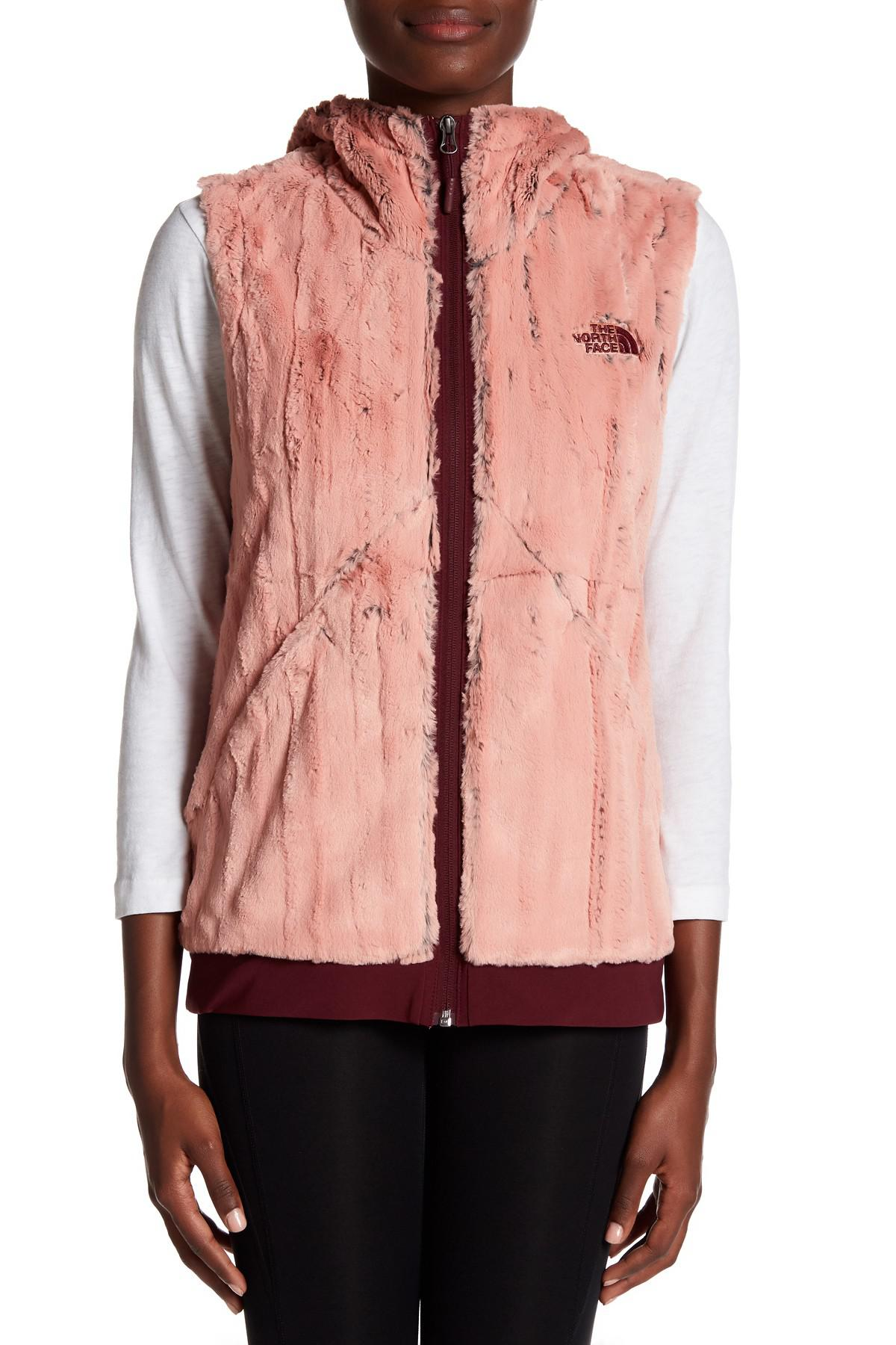 193c3e4617a8 Lyst - The North Face Furlander Faux Fur Vest in Pink