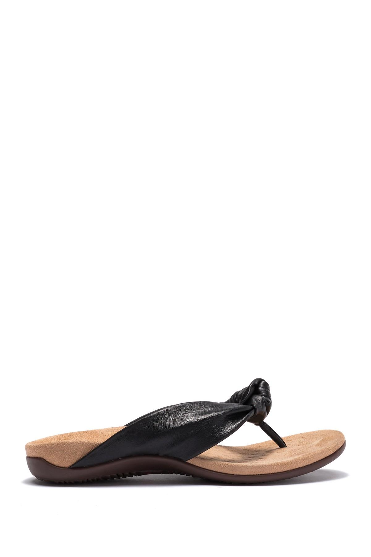 8a0aed543 Lyst - Vionic Pippa Twisted Knot Sandal - Wide Width Available in Black