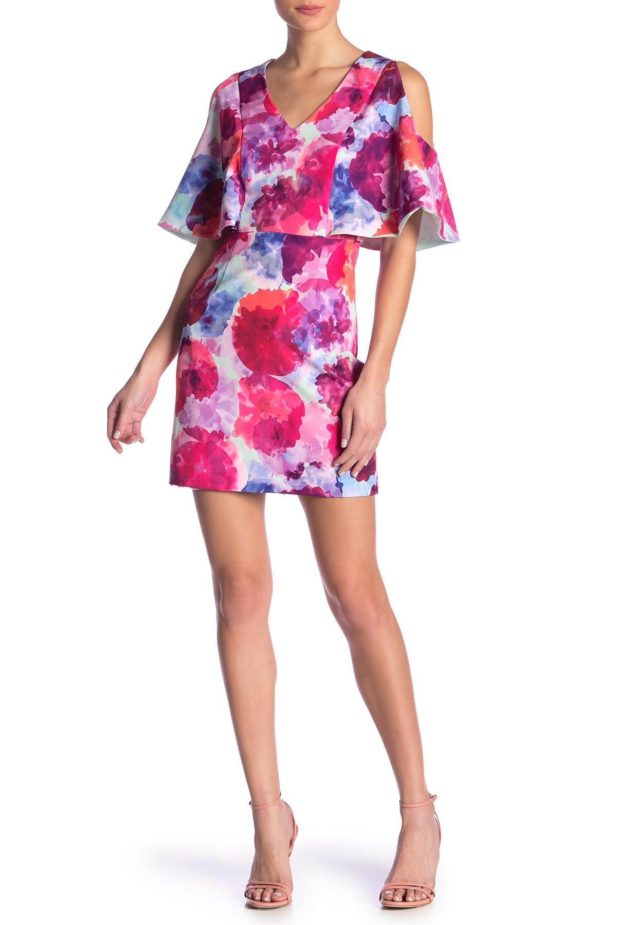 ce67f2718e5 Lyst - Trina Turk Oakhurst Cold Shoulder Floral Print Dress in Pink
