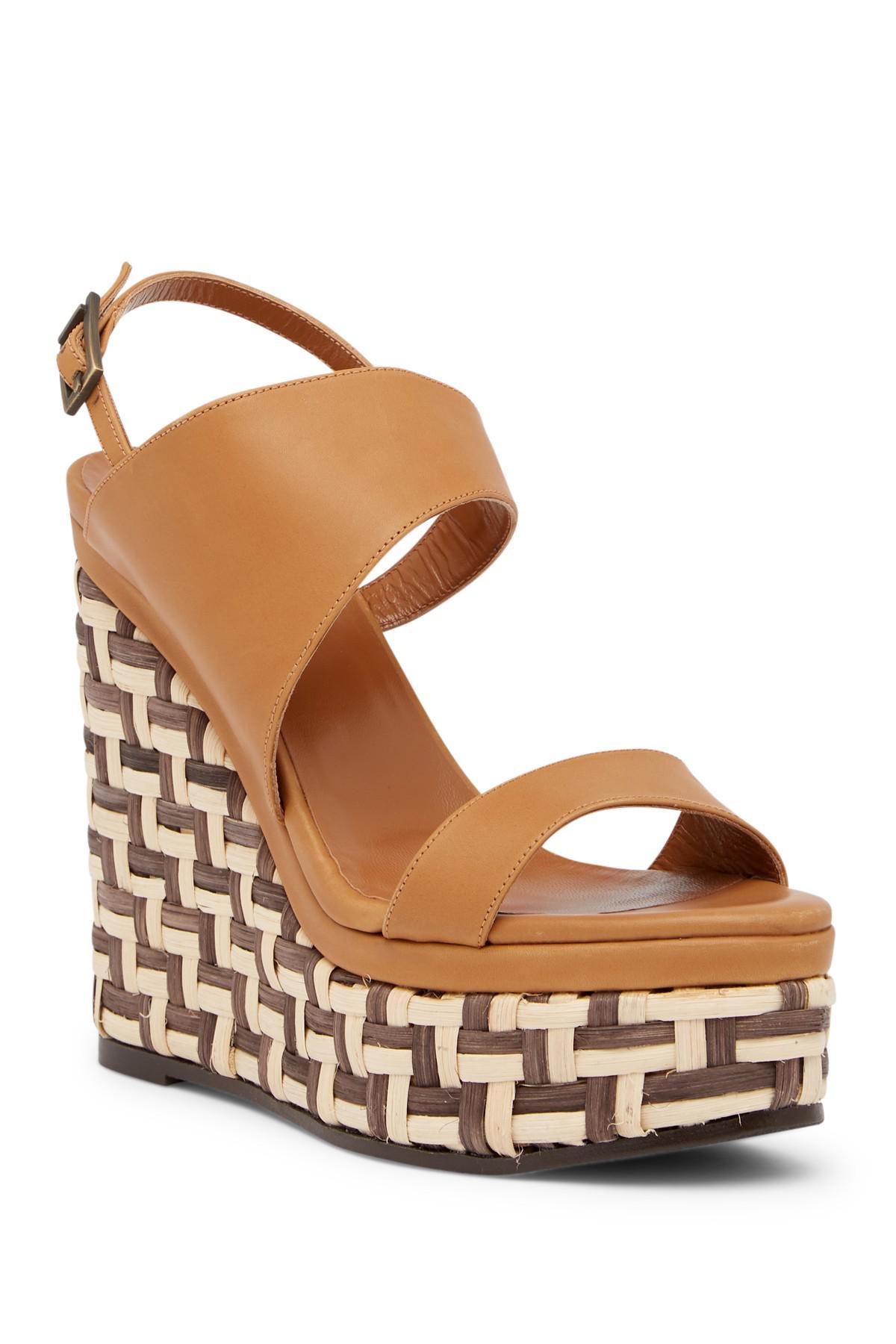 Aquatalia Carmela Woven Platform Heel Leather Sandal c7qtaD0Di