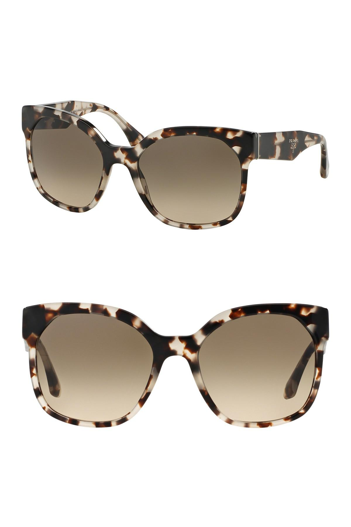 228d7abd120f9 Lyst - Prada Women s 57mm Irregular Cat Walk Sunglasses