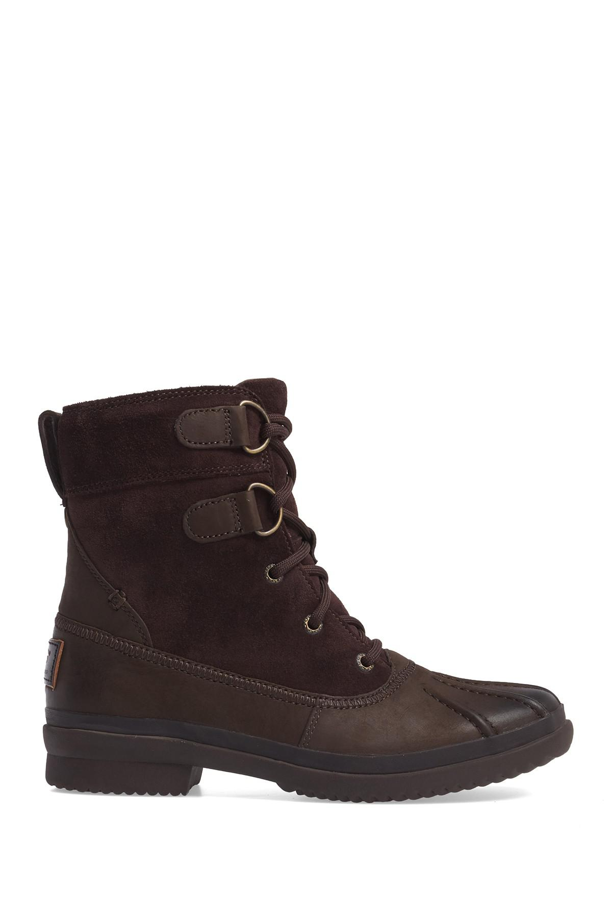5de5328e11e Lyst - UGG Azaria Waterproof Leather Boot in Brown