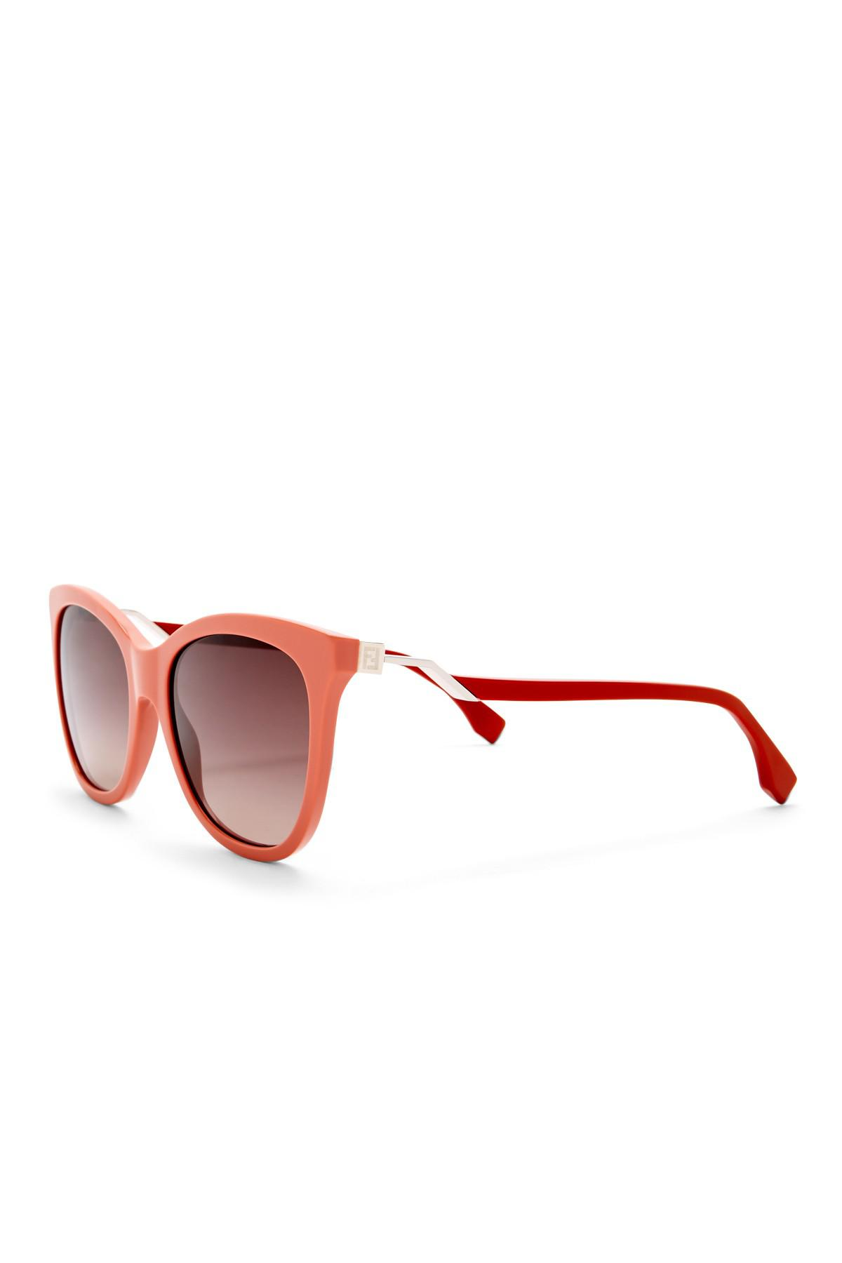 Womens Ff 0200/S Xq Sunglasses, Pink Red, 55 Fendi