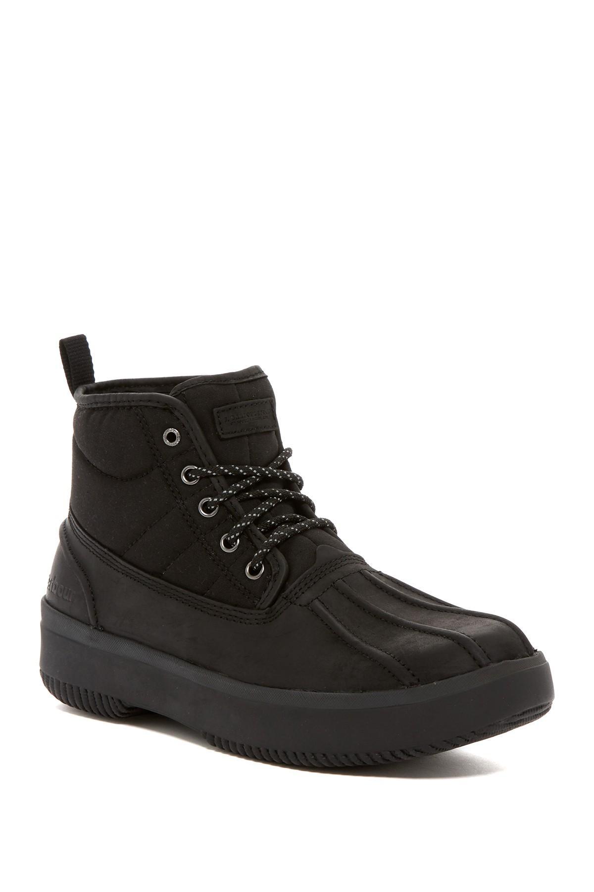Barbour Mr Duck Waterproof Boot In Black For Men Lyst
