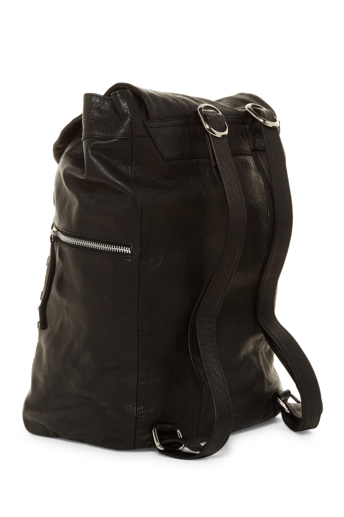 Lyst Day Amp Mood Billie Leather Backpack In Black