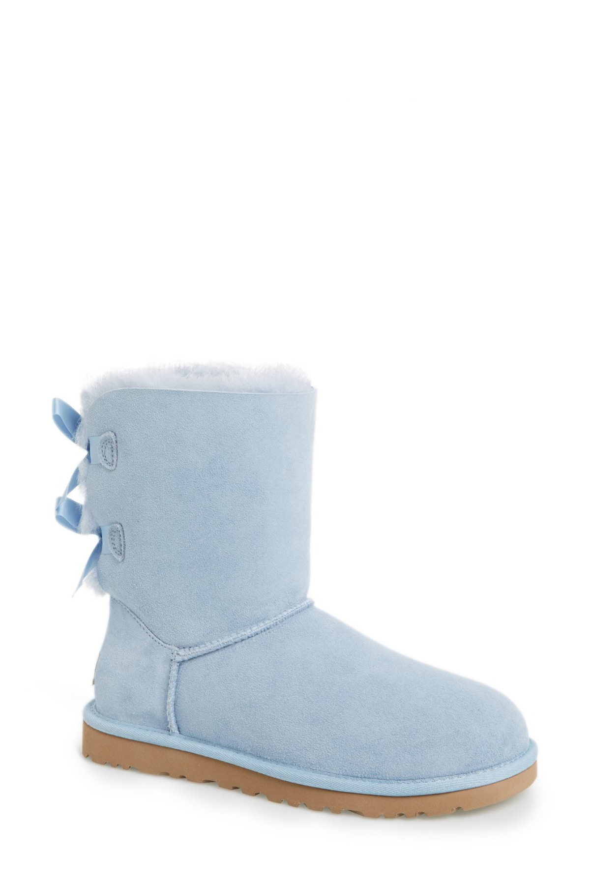 ugg bailey bow genuine shearling lined boot in blue hnb lyst. Black Bedroom Furniture Sets. Home Design Ideas