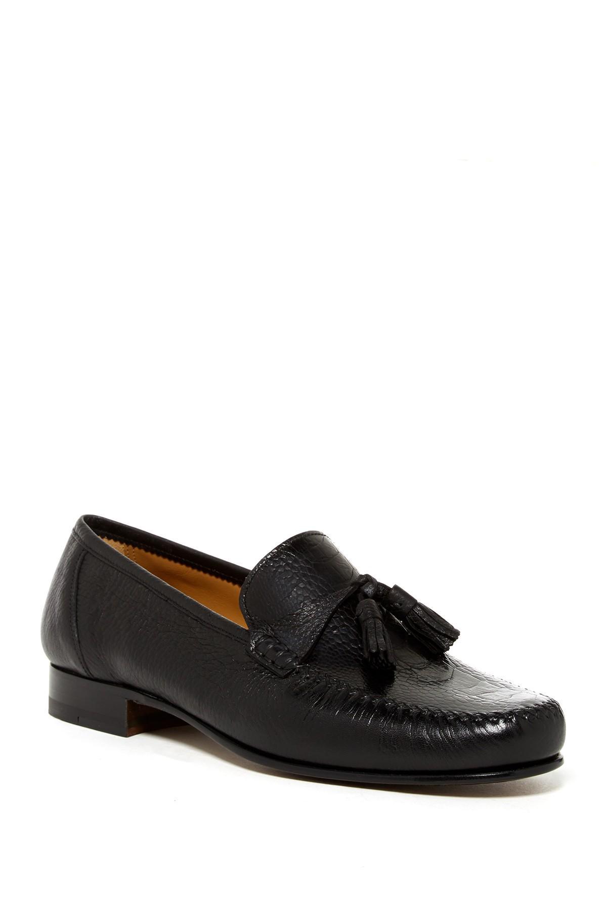 saks fifth avenue selo ostrich loafer in black lyst