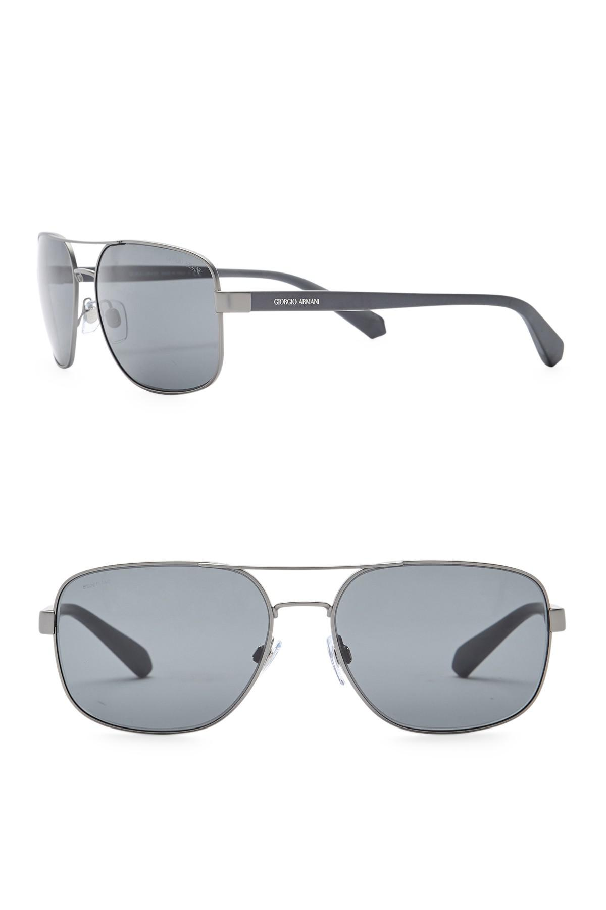 862f478ce4 60mm In Lyst Metal Frame Armani Giorgio Sunglasses Navigator Men s AAqwUIv8