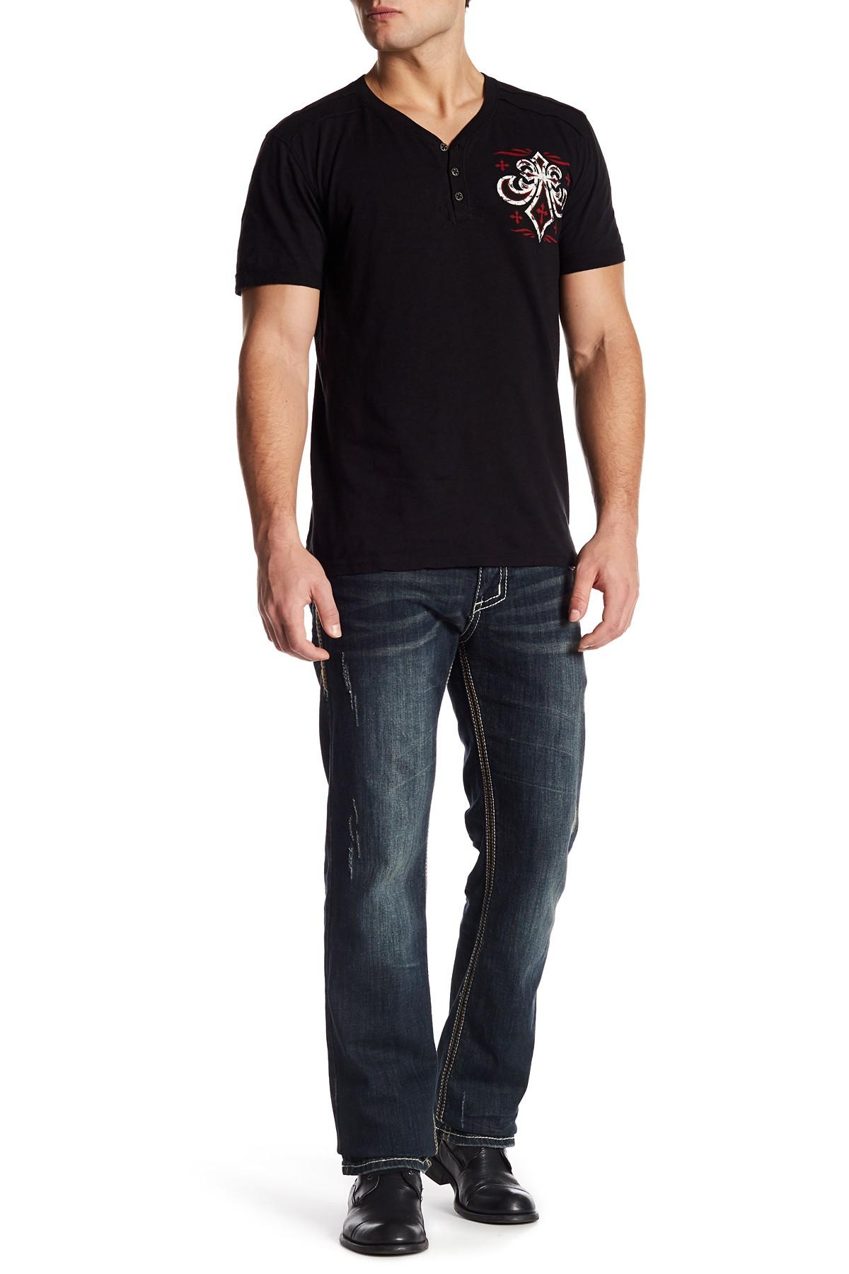 Affliction blake fleur knoxville jean in blue for men lyst for Joe shirt knoxville tn