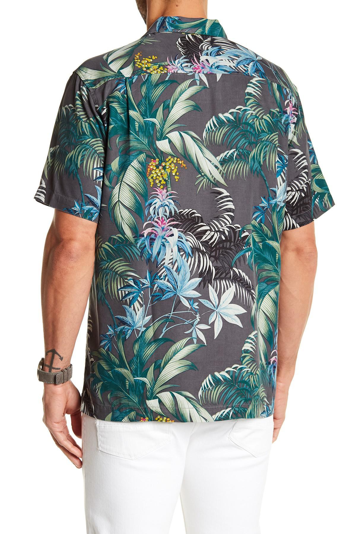 10c2792a745 Lyst - Tommy Bahama Tropical Falls Short Sleeve Silk Print Shirt in ...