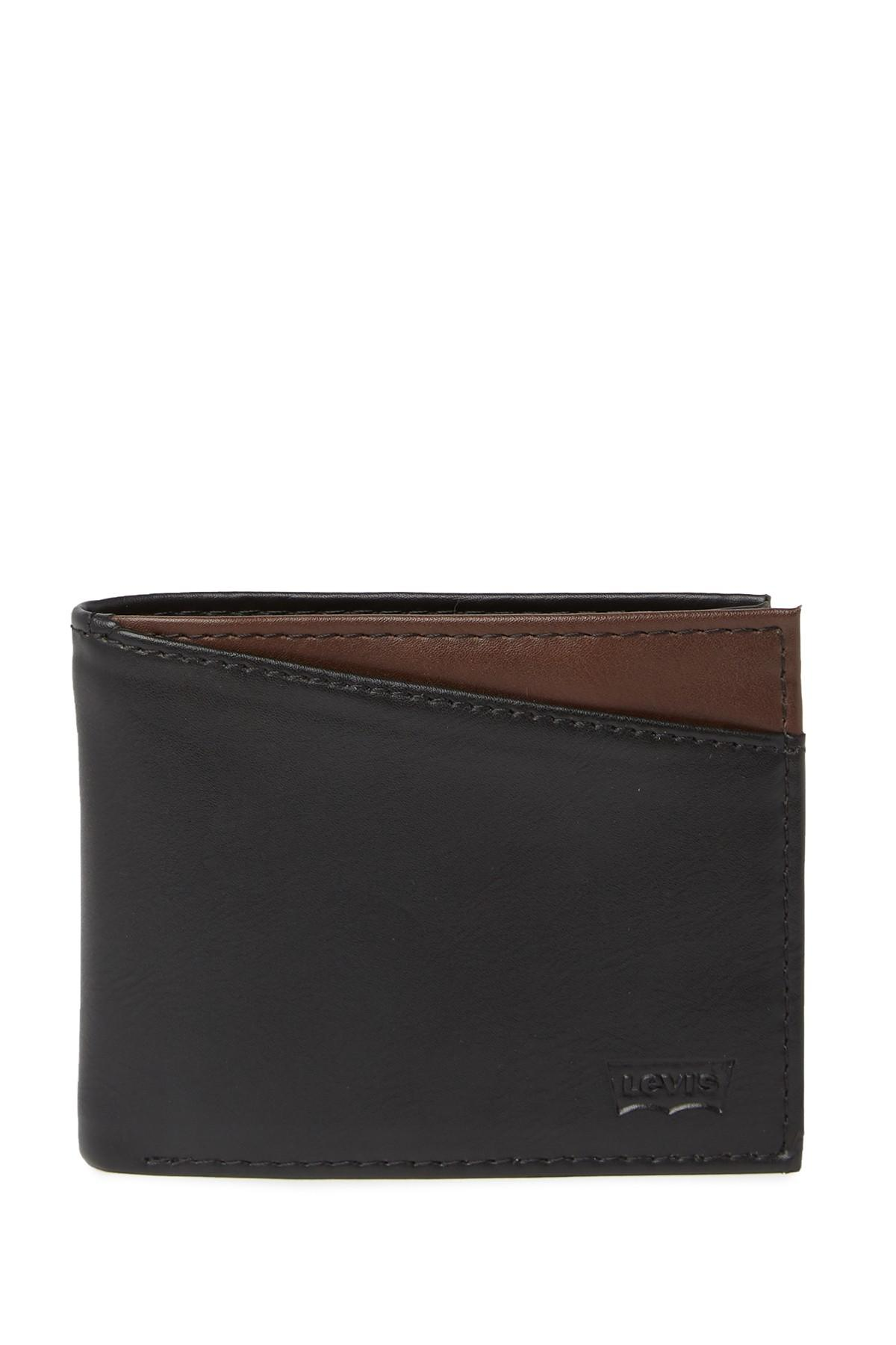 2e997f737 Lyst - Levi's Conner X-capacity Slim-fold Leather Wallet in Black ...