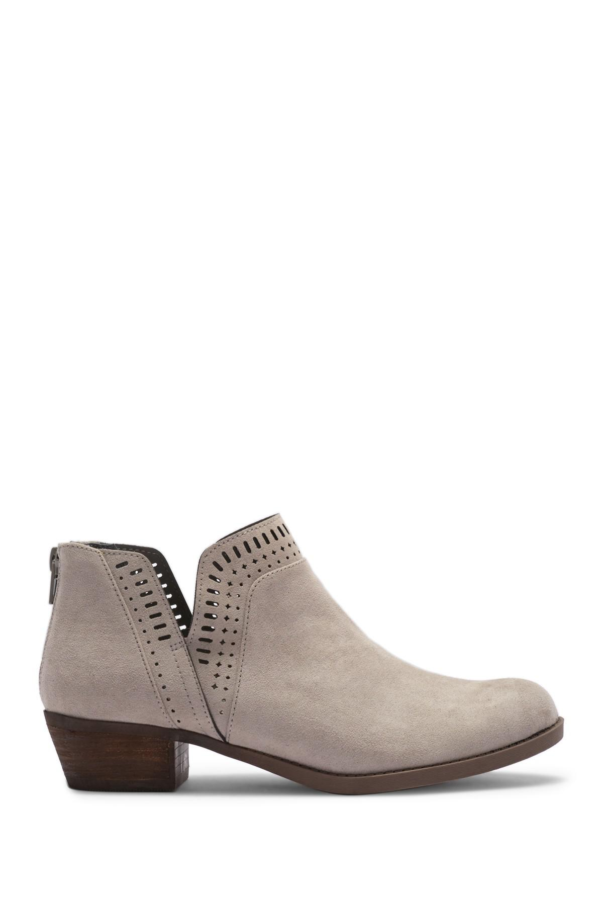 52c1cb115a6 Carlos By Carlos Santana - Brown Billey Perforated Ankle Bootie - Lyst.  View fullscreen