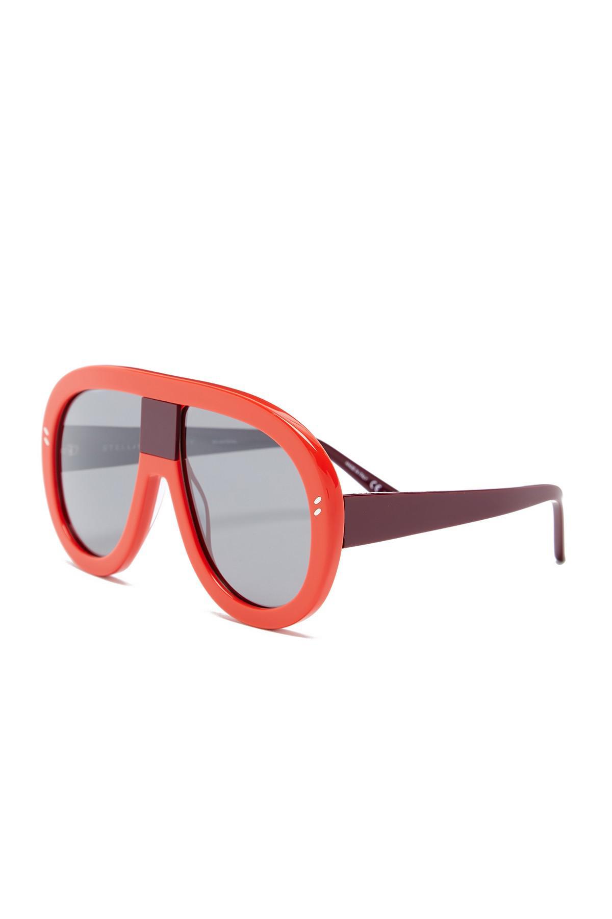 1390580b973 Lyst - Stella McCartney 60mm Aviator Sunglasses in Red