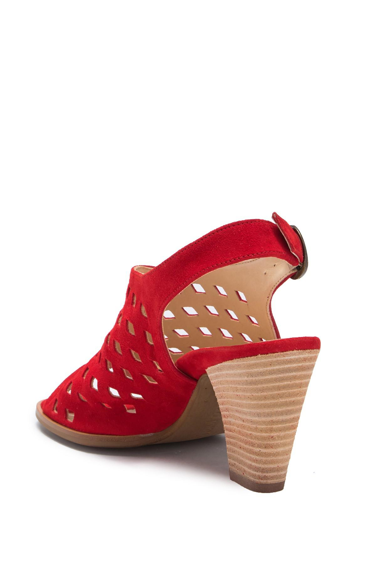 28fc50c810c Lyst - Paul Green Diamond Perforated Sandal in Red