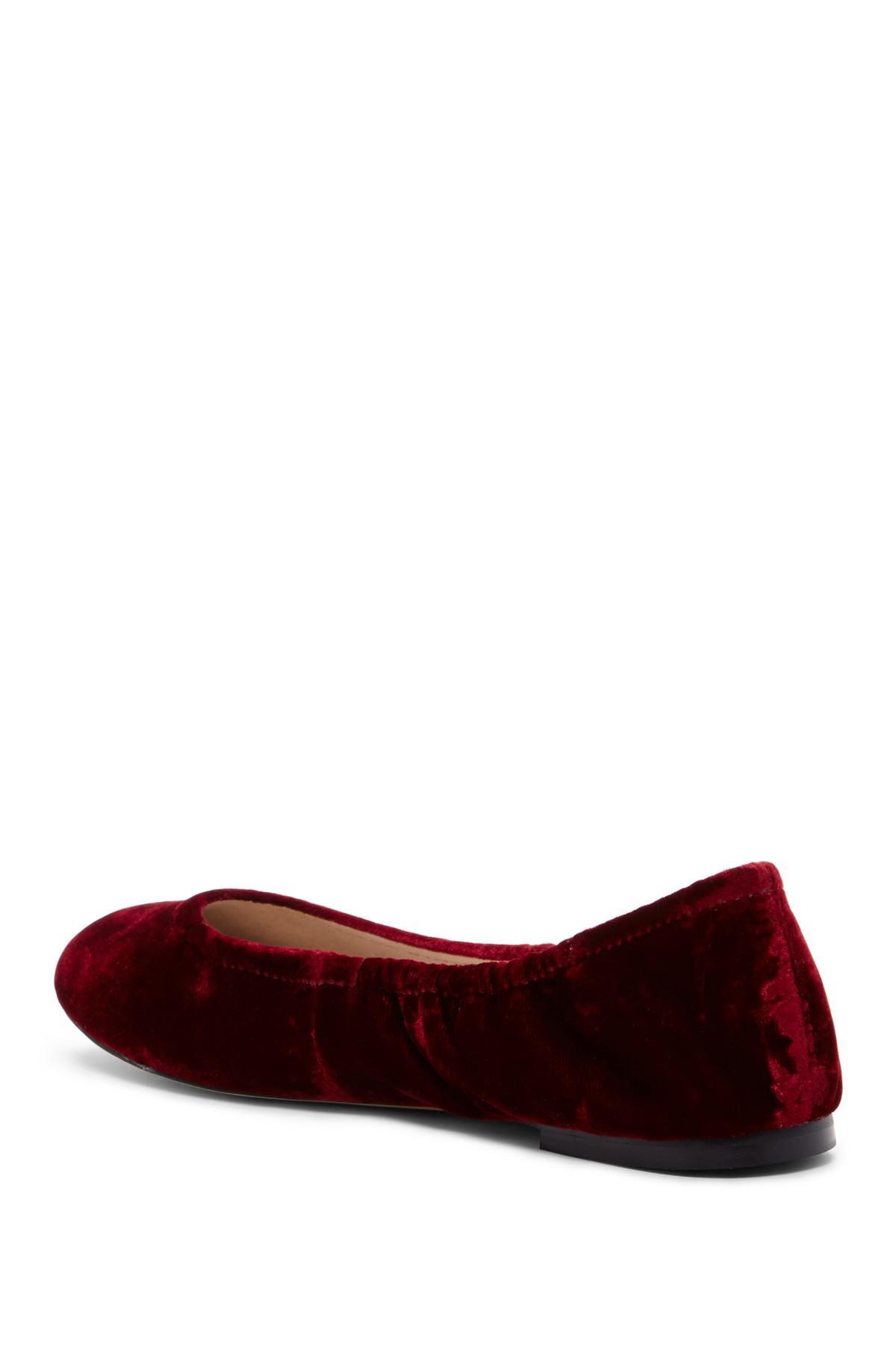 fd99c6dc639d9a Lyst - Sam Edelman Fritz Velvet Ballet Flat in Red