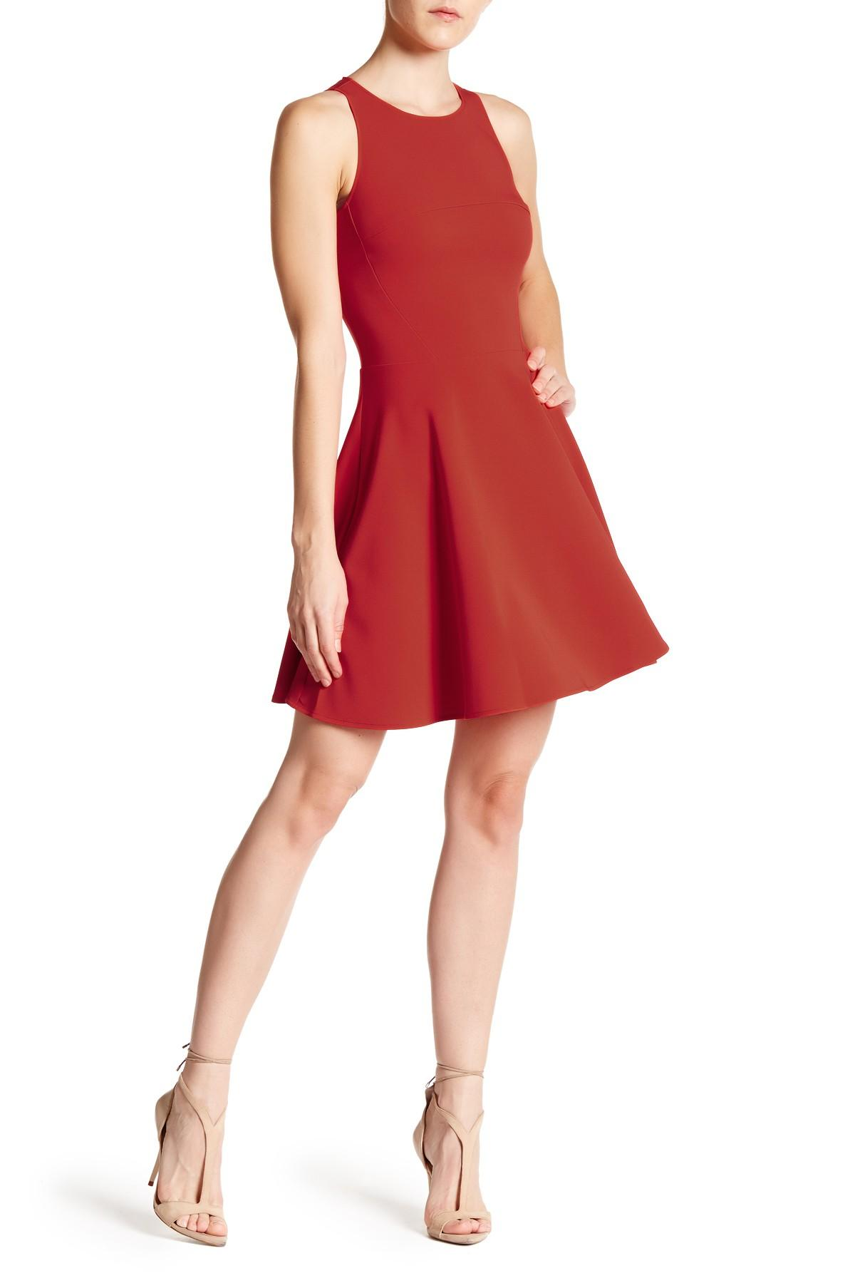 Maria bianca nero miranda dress in red lyst for Nordstrom rack dresses pour mariage