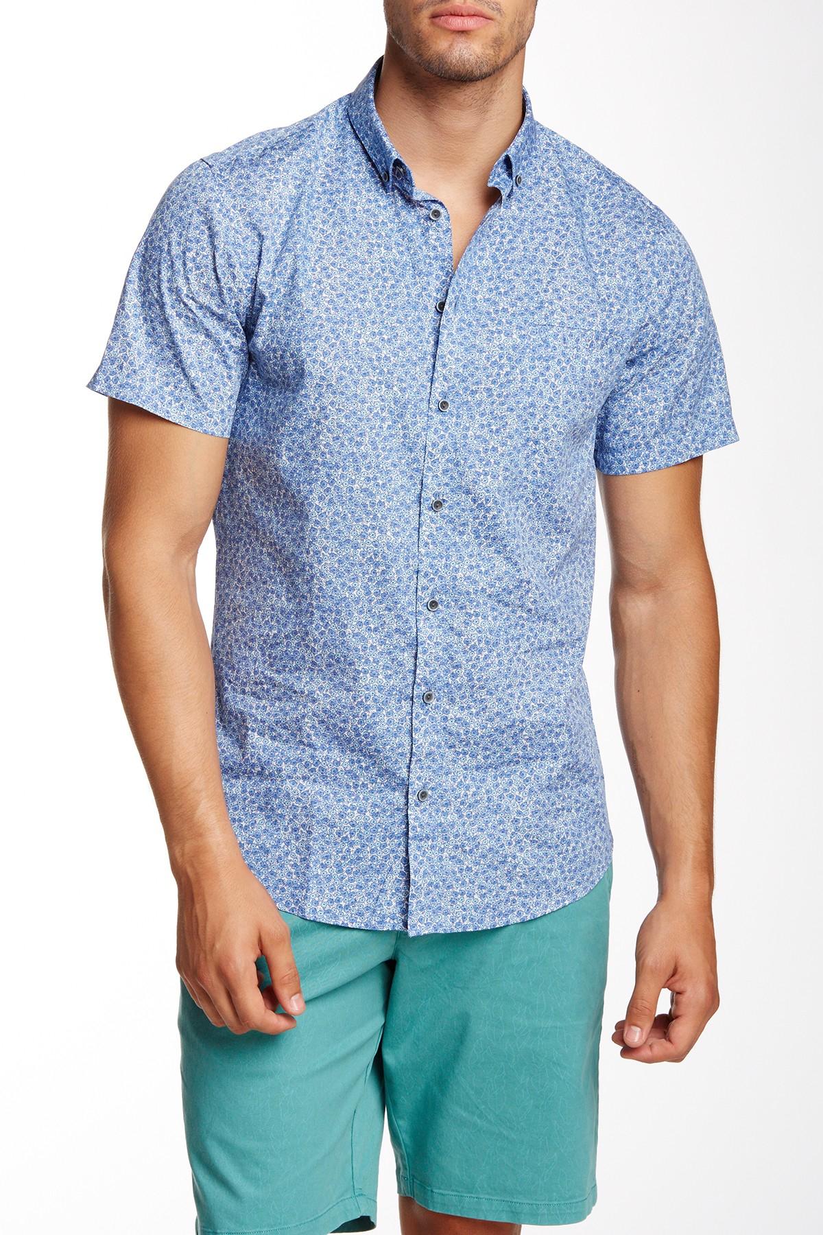 Slate And Stone Clothing : Lyst slate stone regular fit short sleeve lance shirt