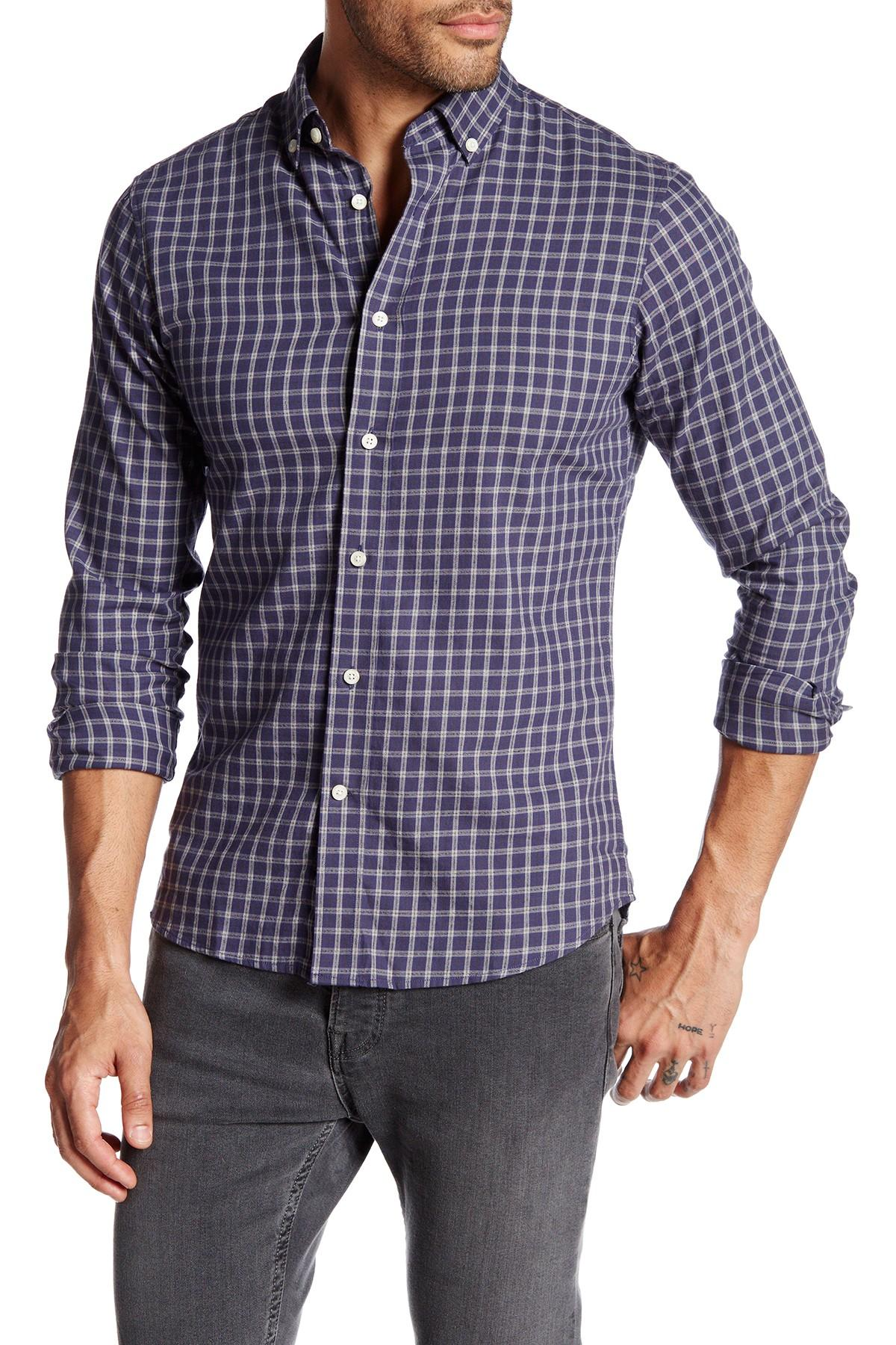 Slate And Stone Clothing : Lyst slate stone asher plaid shirt in blue for men