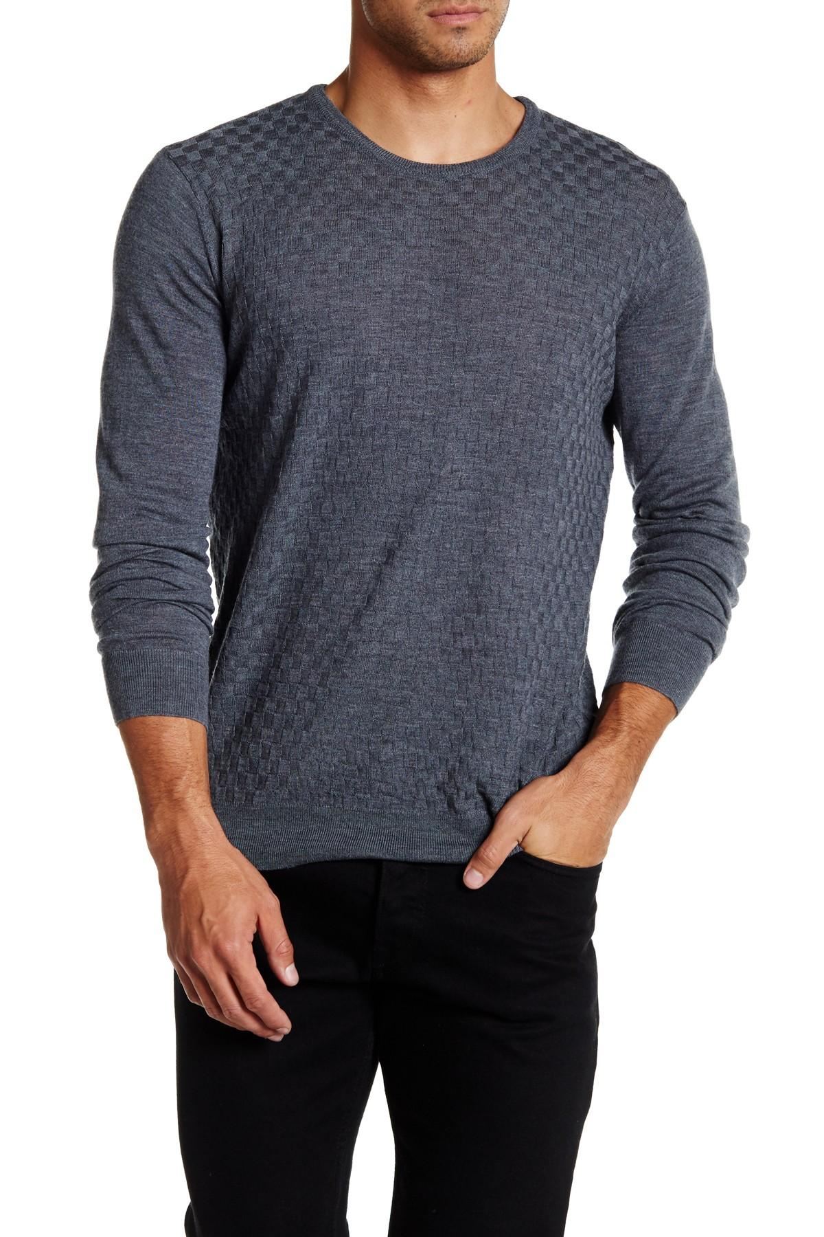 Slate And Stone Clothing : Slate stone merino wool basket weave sweater in gray for
