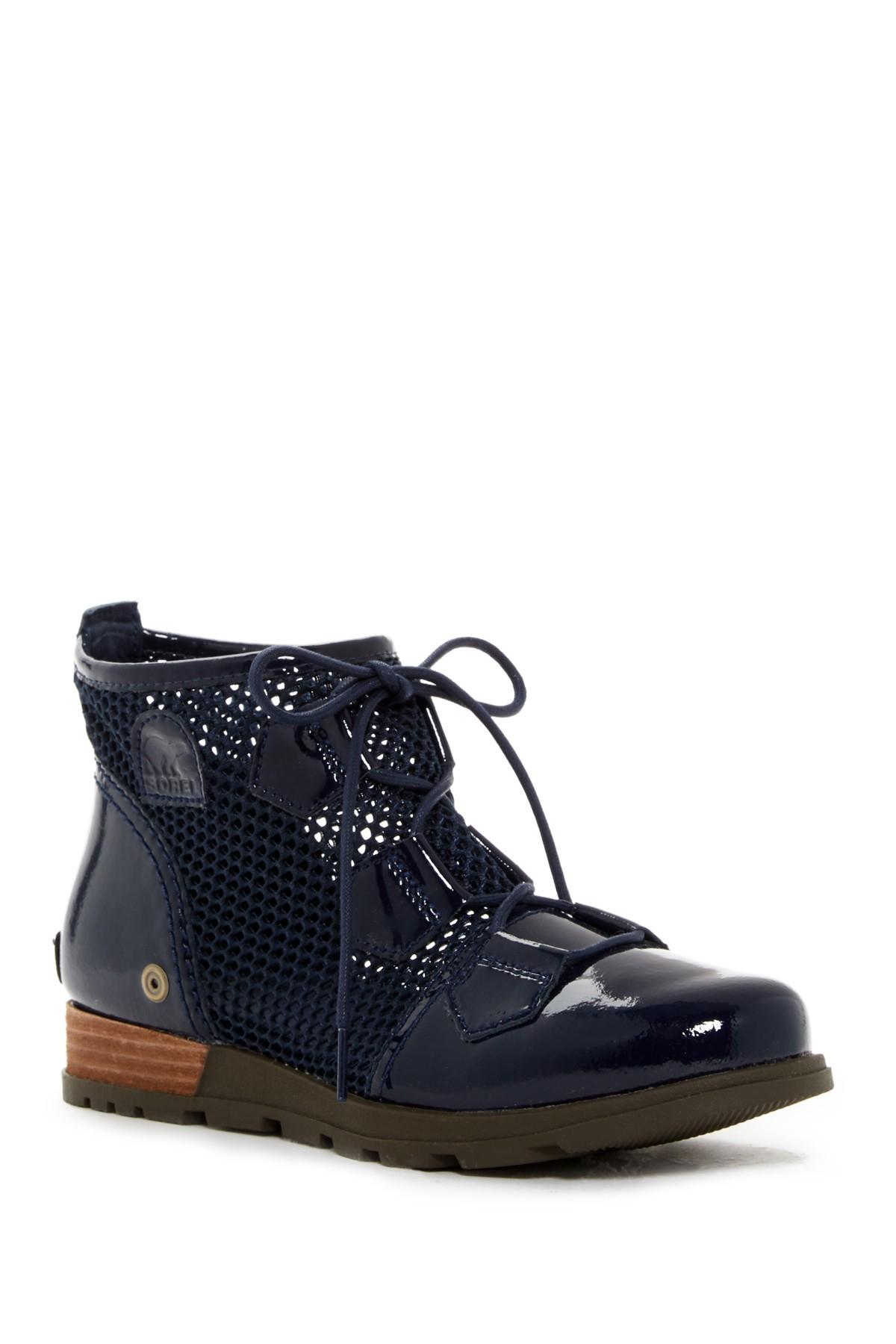 Sorel Major Lace Mesh Boot Women In Blue Lyst