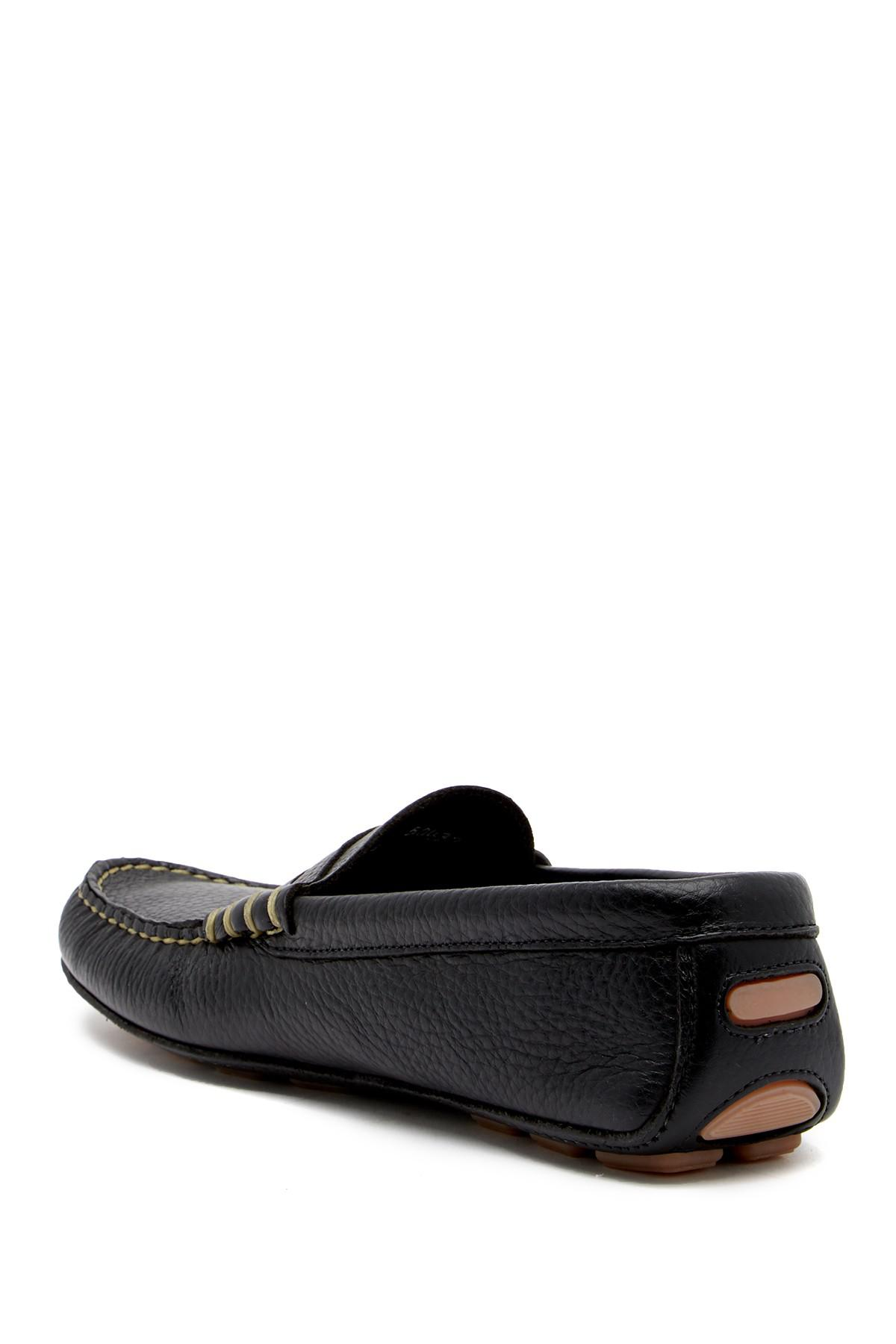 lyst allen edmonds daytona leather loafer in black for men