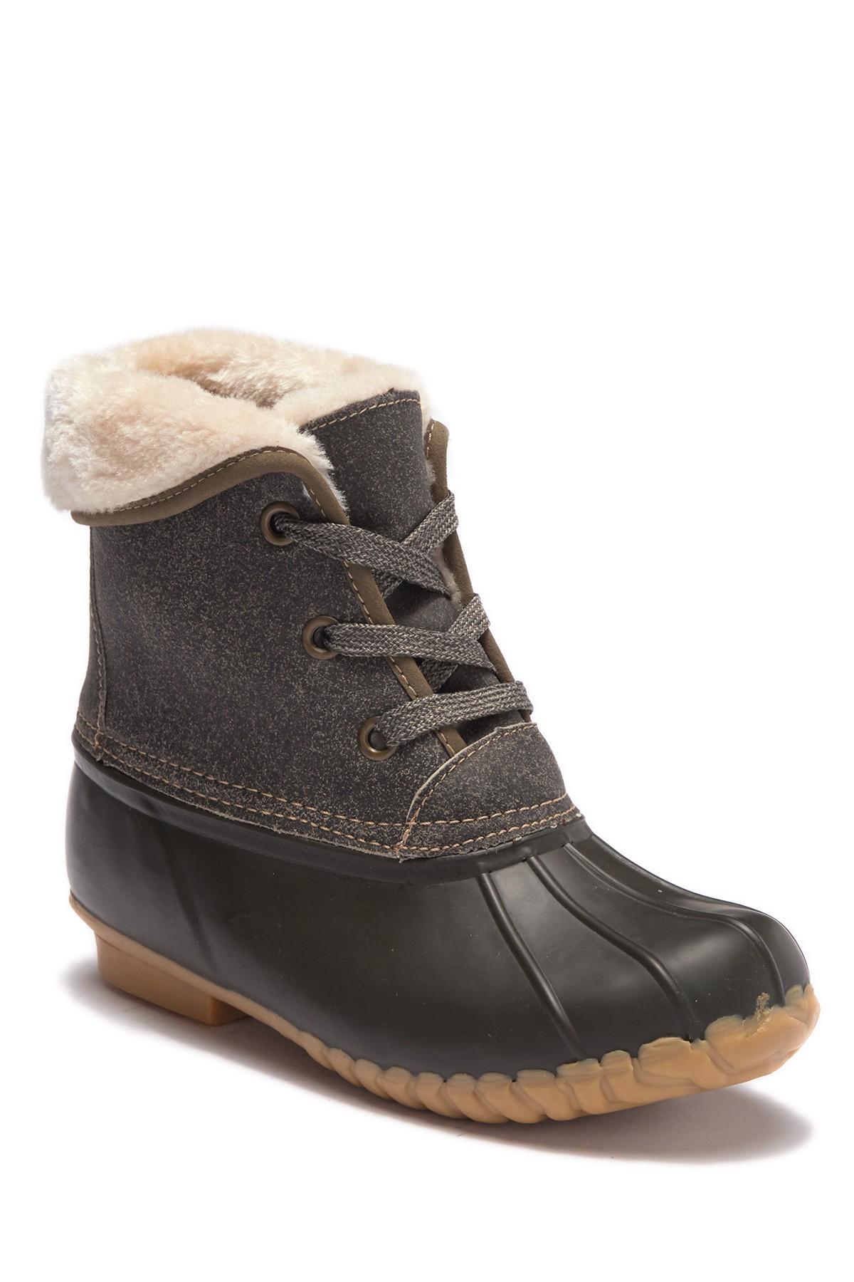 35a9900311b Lyst - Sporto Degas 2 Faux Fur Duck Boot