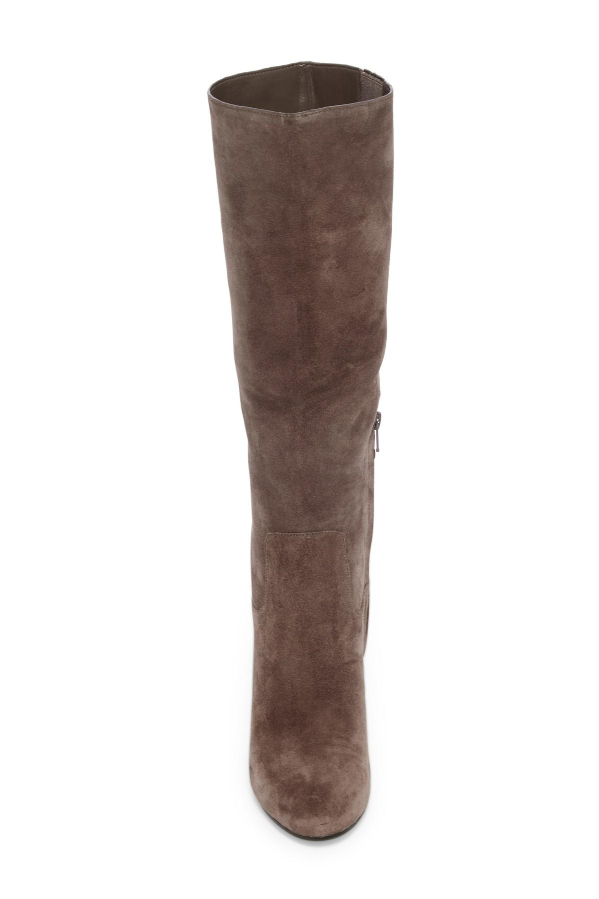 4bc10207560b Lyst - MICHAEL Michael Kors Janice Suede Boots in Brown
