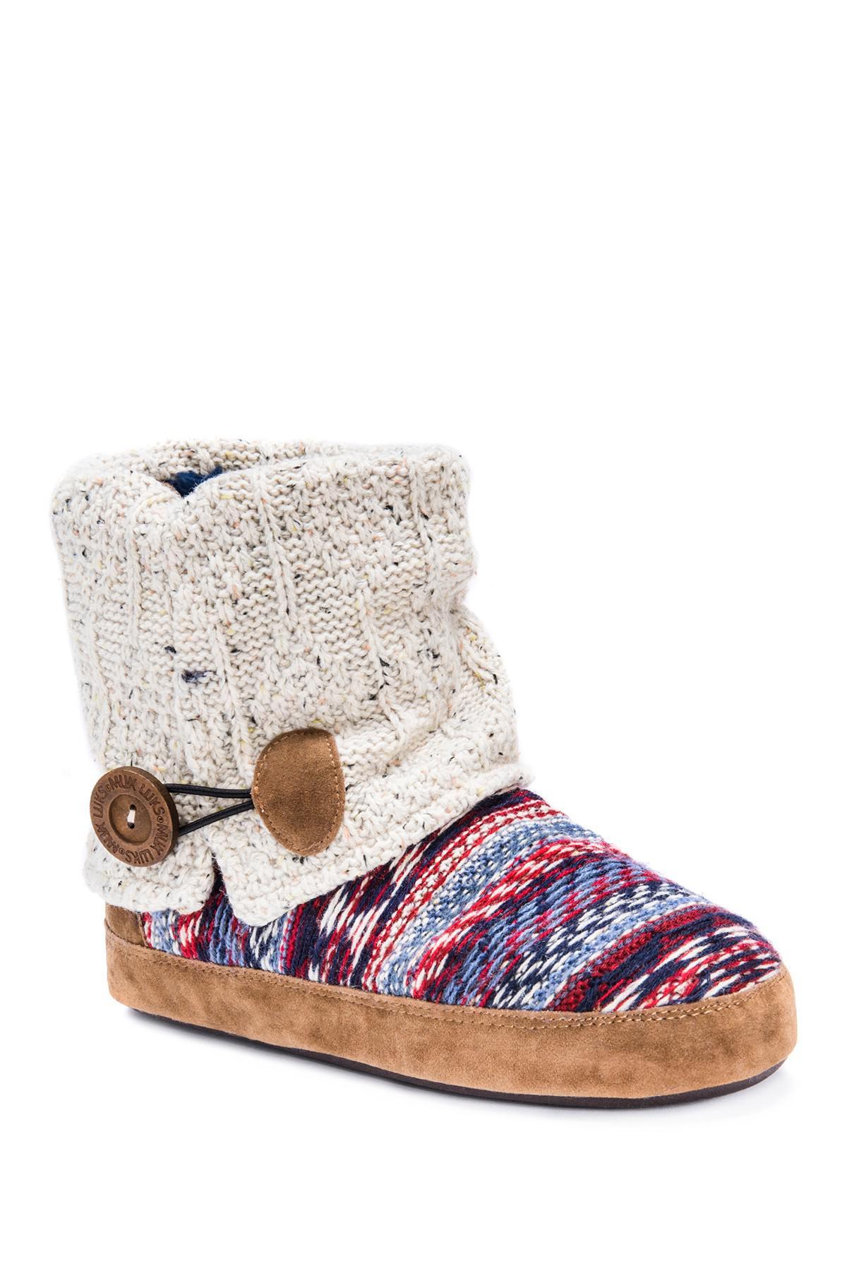 Prices For Sale Discount Hot Sale Dearfoams MFS Bootie Slipper with Notch Sherpa Cuff(Women's) -Black Outlet Pick A Best UrSNcmrR8s