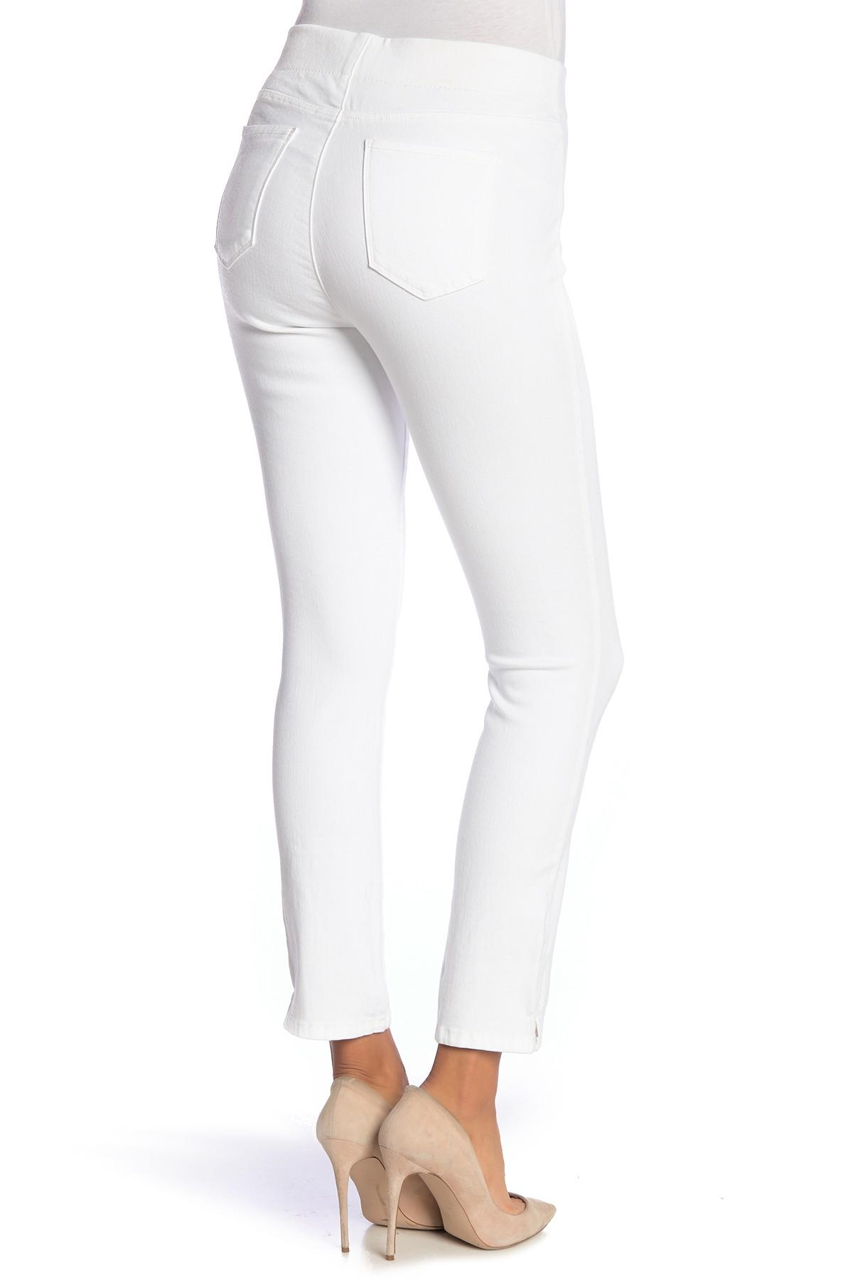 6bf84b8b6dd079 Lyst - Nydj Alina Pull-on Ankle Skinny Jeans (regular & Plus) in White