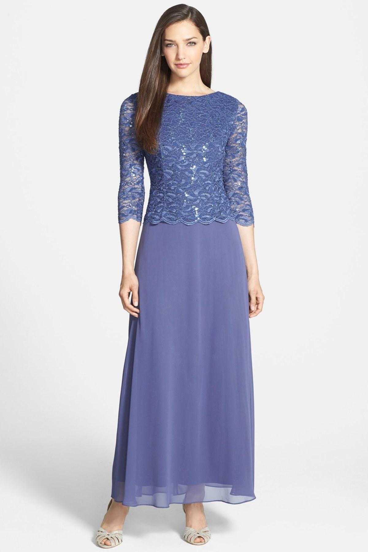alex evenings mock two piece dress petite in blue lyst. Black Bedroom Furniture Sets. Home Design Ideas