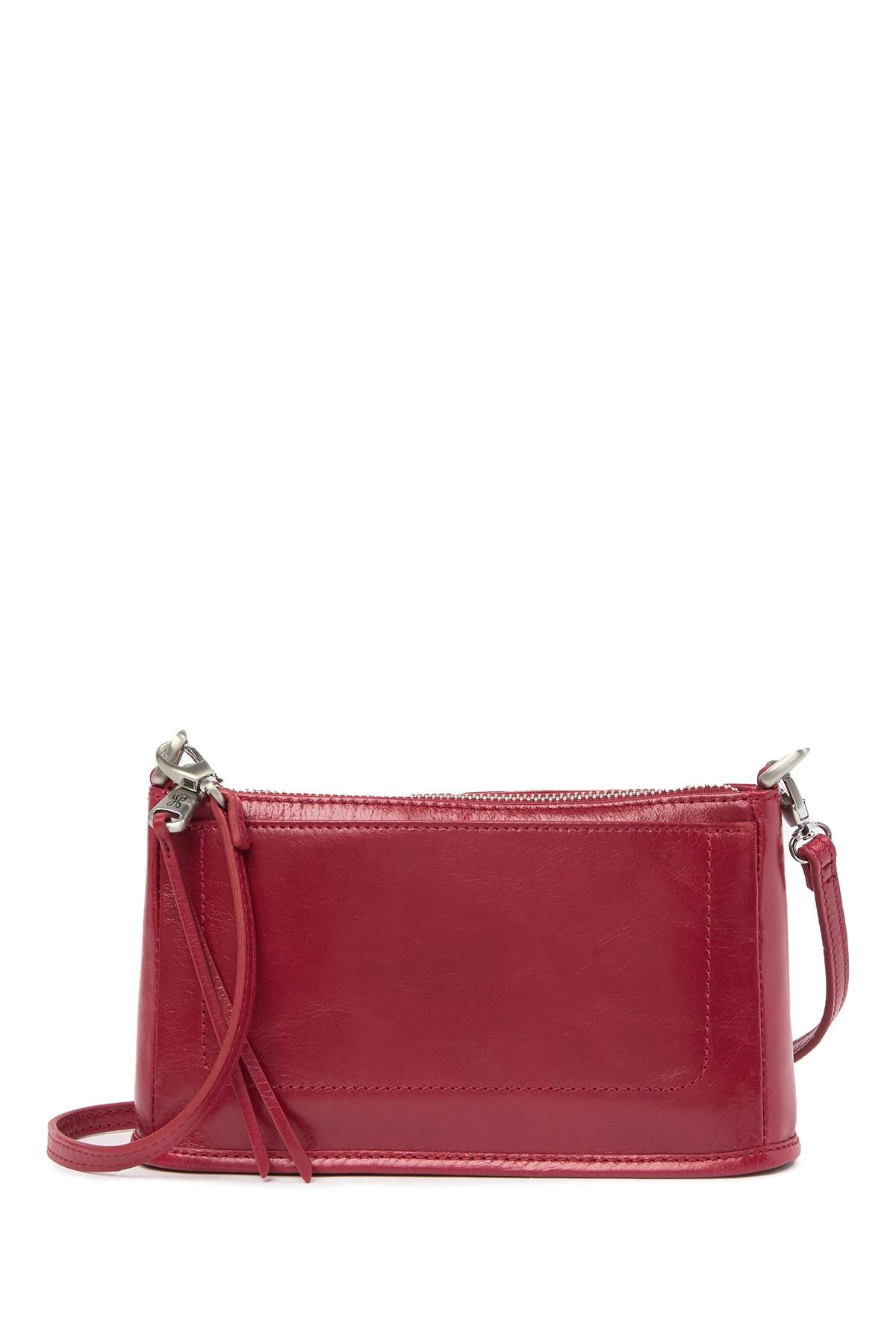 a2890618f655 Lyst - Hobo Cadence Leather Convertible Crossbody Bag in Red