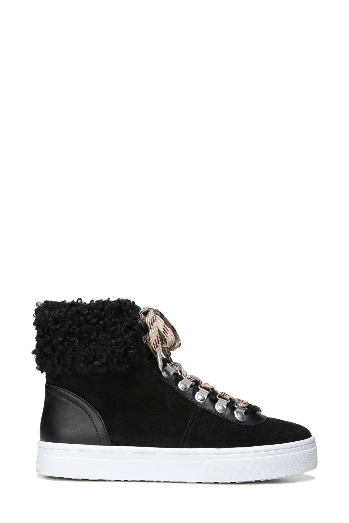 6fc504d96765 Lyst - Sam Edelman Luther Faux Shearling High Top Sneaker in Black