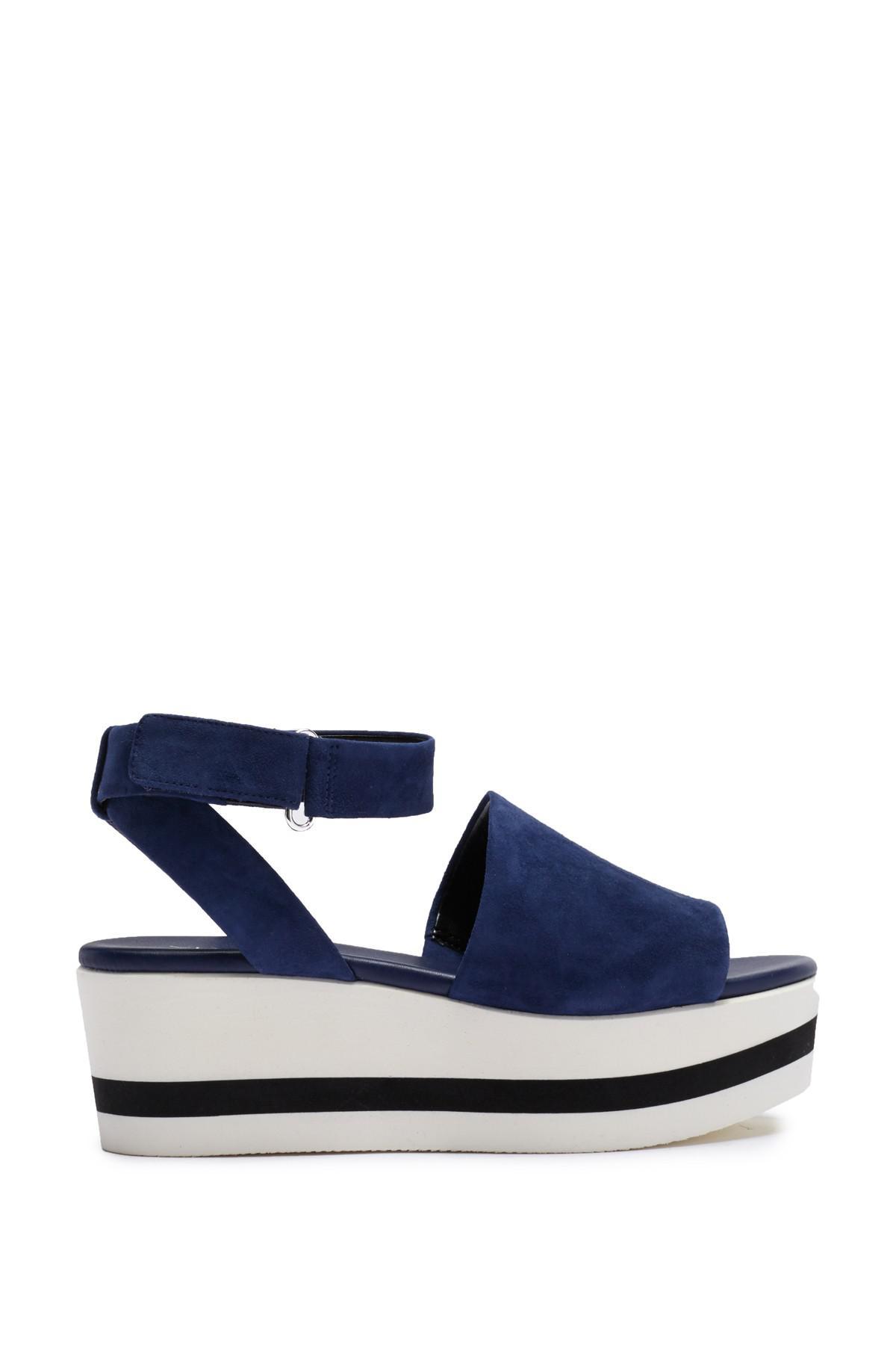 5a5025e73f2 Lyst - Via Spiga Nirvelli Ankle Strap Platform Sandal in Blue
